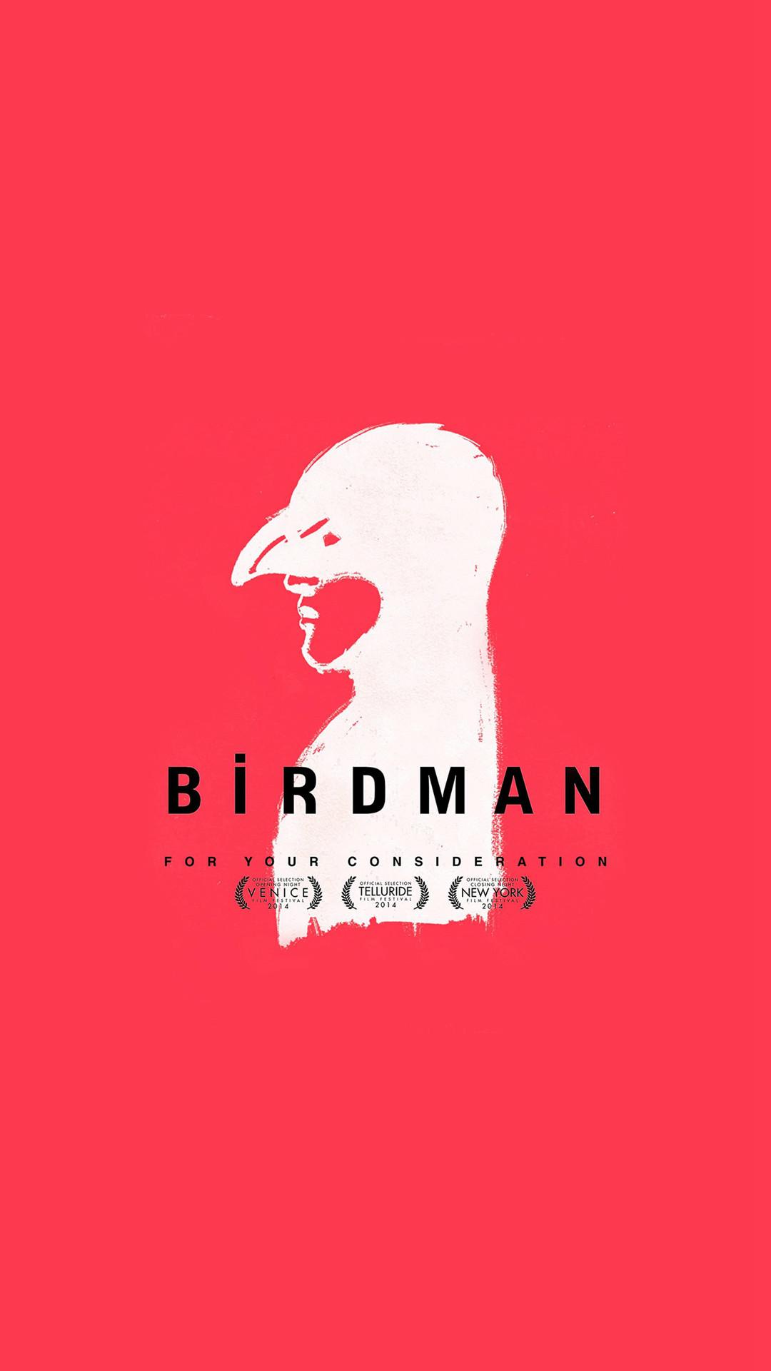 Birdman Poster Red Film #iPhone #6 #plus #wallpaper