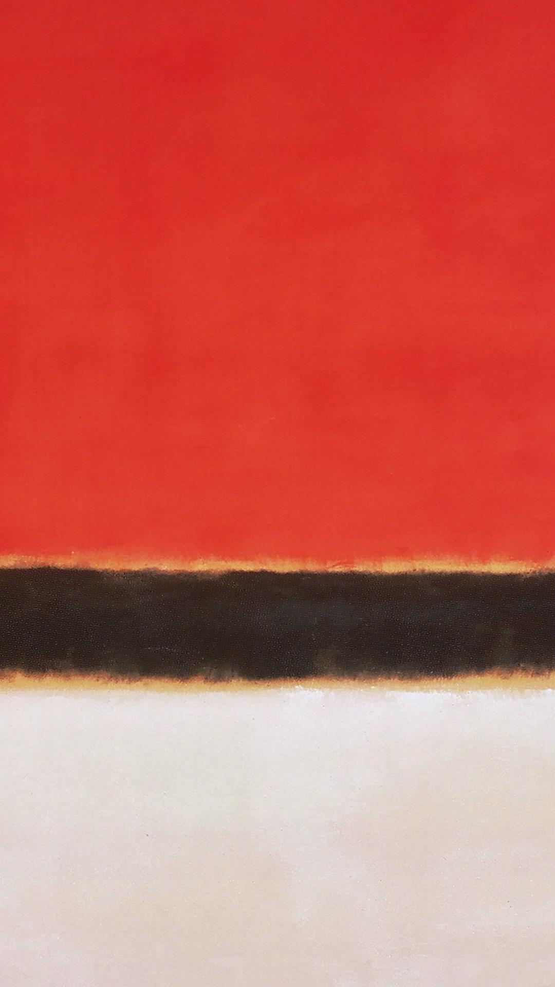 Red White Rothko Mark Paint Style Art Classic #iPhone #6 #plus #wallpaper