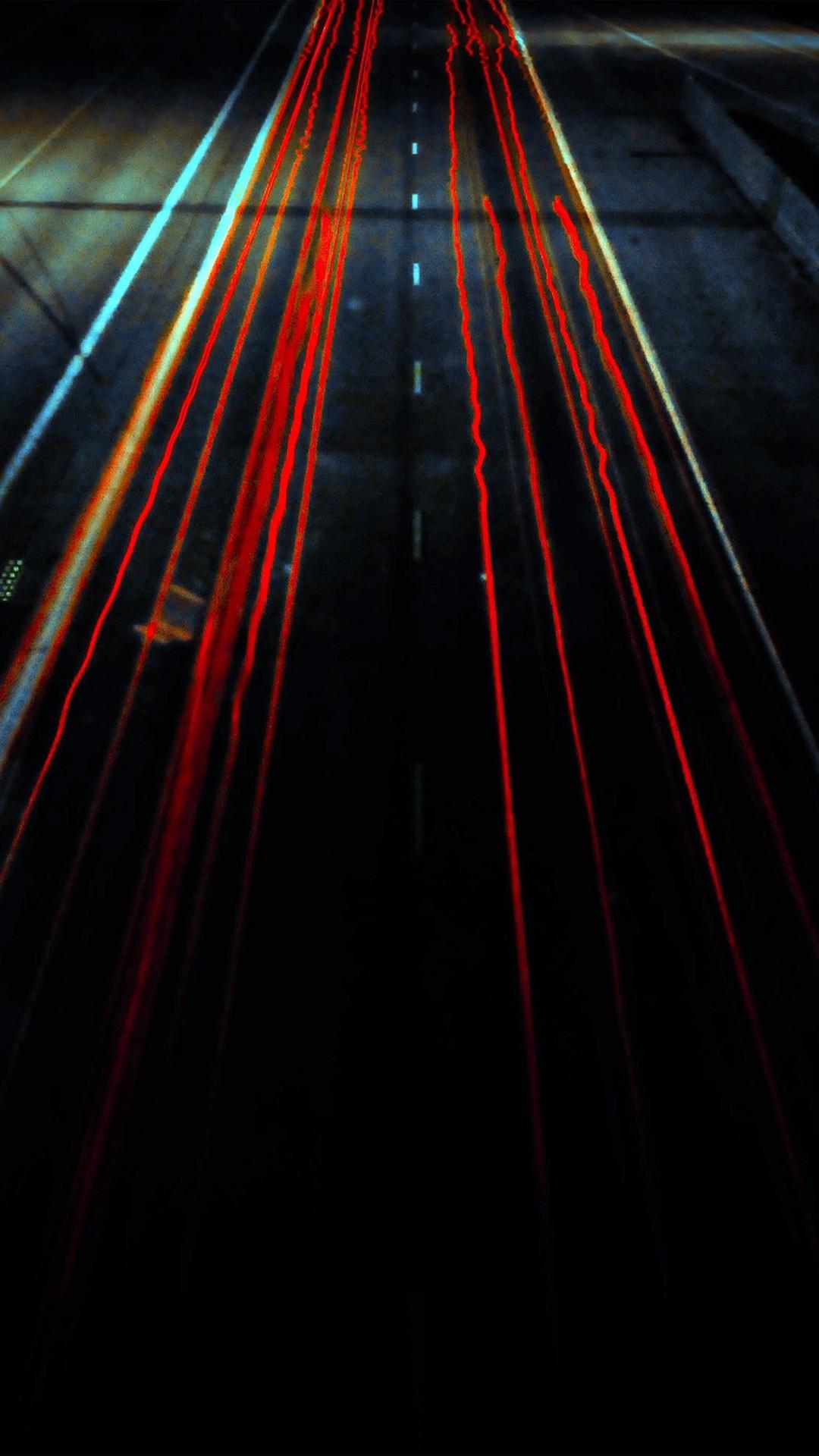 Street Car Light Dark Red #iPhone #6 #plus #wallpaper