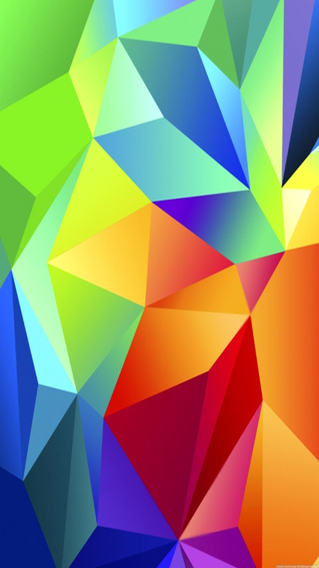 Abstract iPhone 6 Plus Wallpapers – Colorful Red Blue Green Triangles iPhone  6 Plus HD Wallpaper