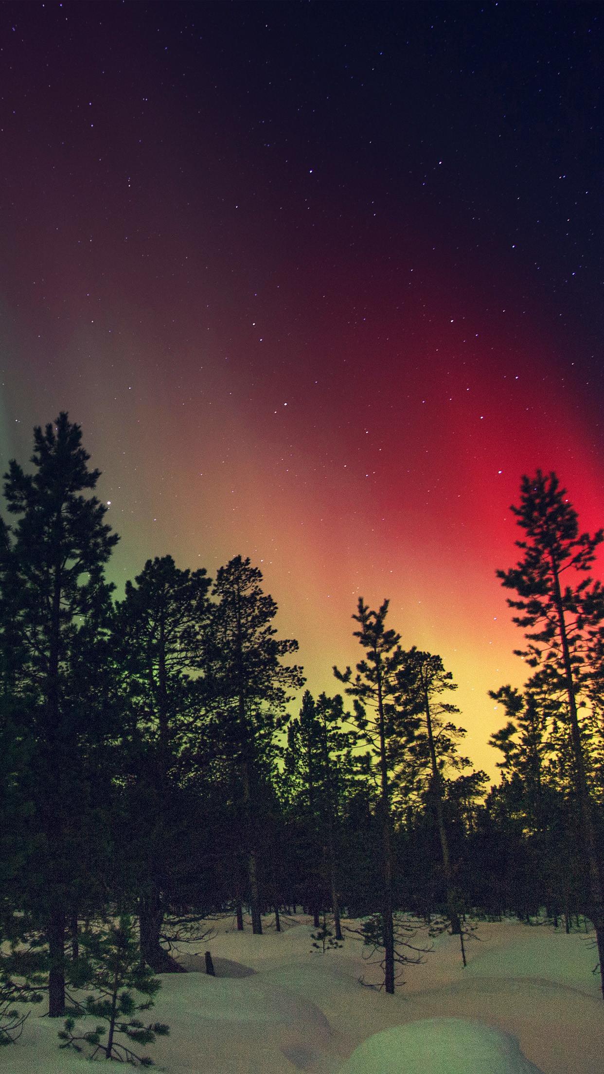 nice aurora-night-red-sky-space-dark-romantic-iphone6
