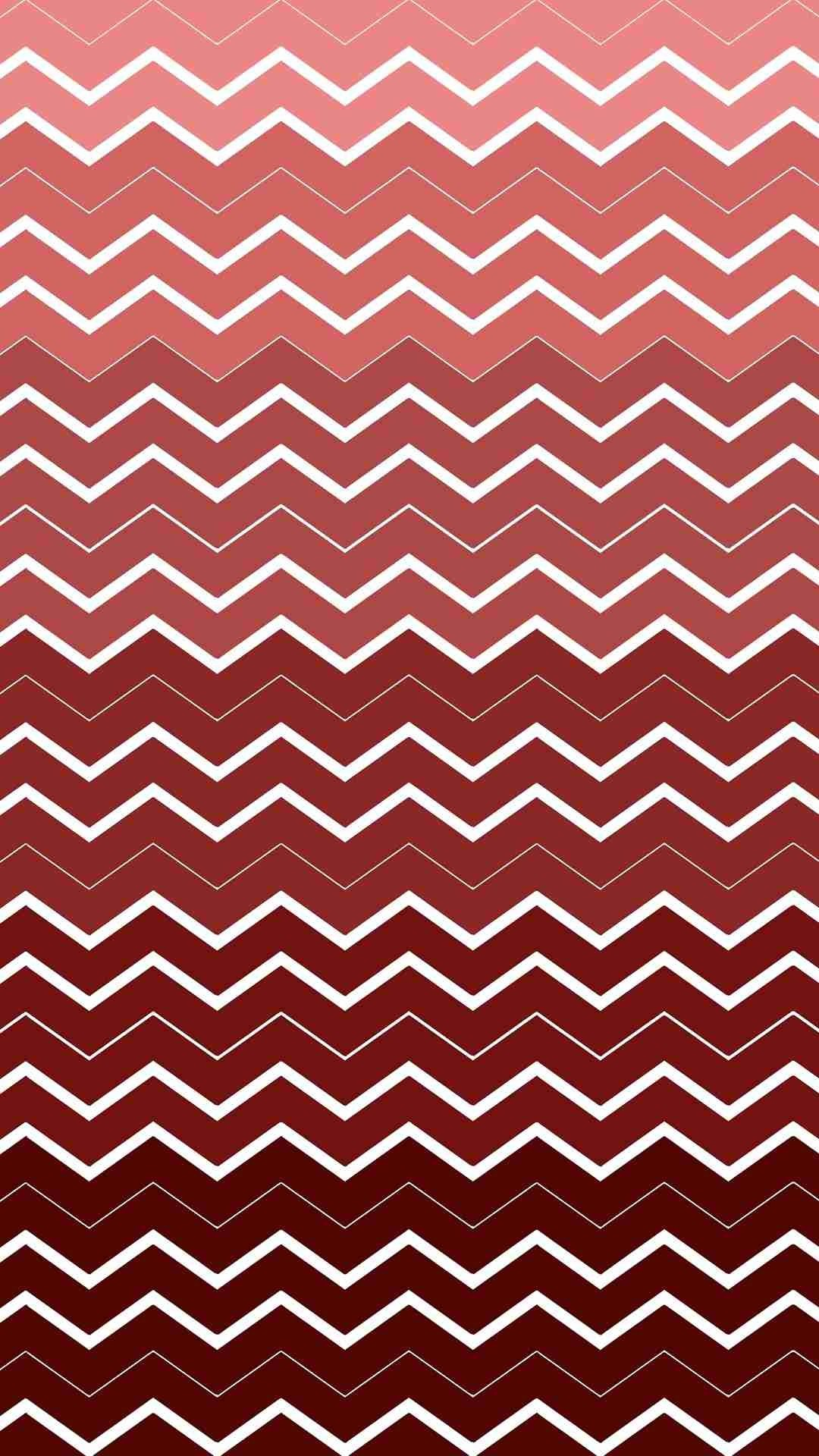 Chevron and Zigzag Pattern iPhone 6 Plus Wallpaper – Ombre Red and White # iPhone #