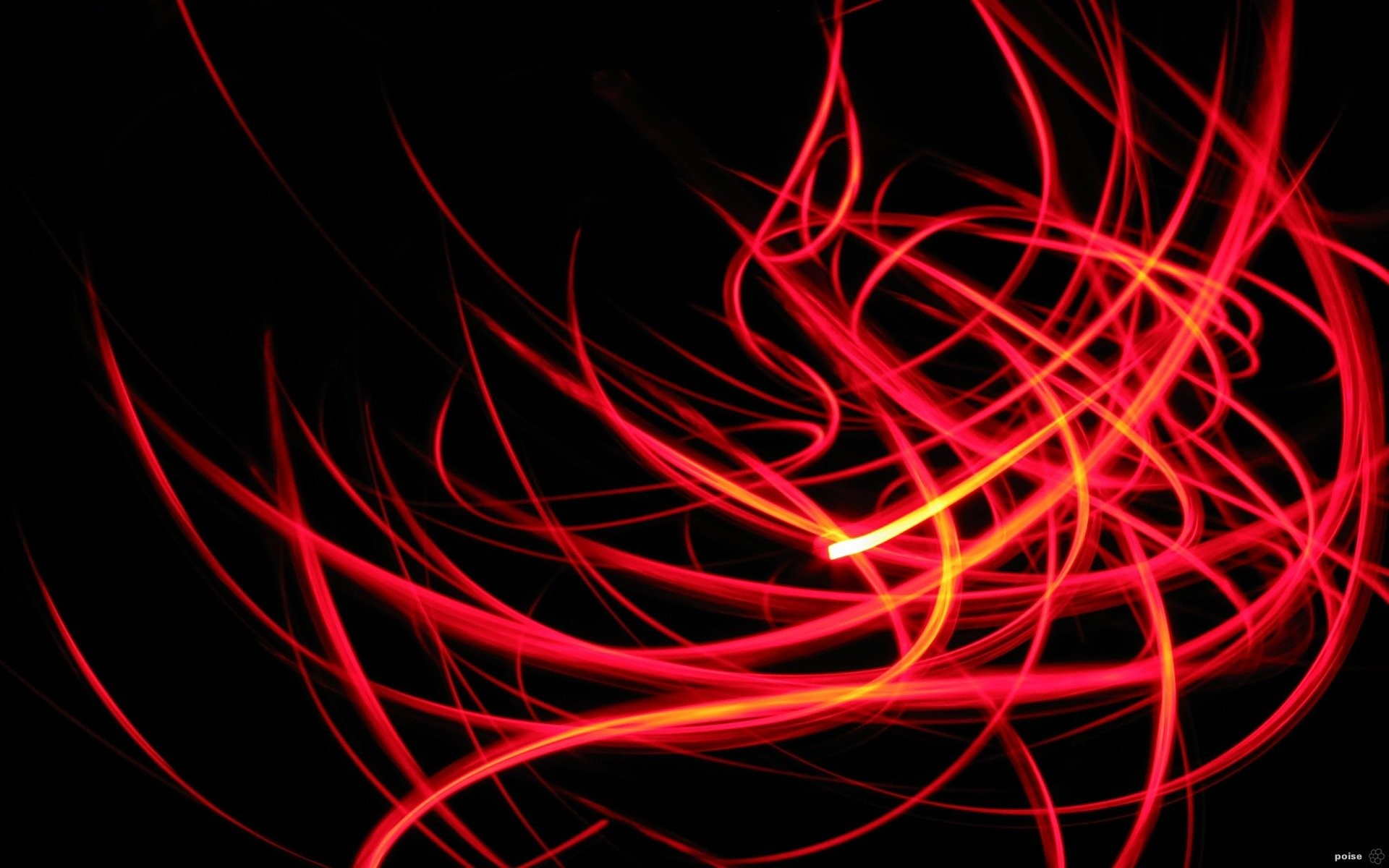 Abstract Black CGI Colors Ink Orange Red · HD Wallpaper | Background  ID:30627