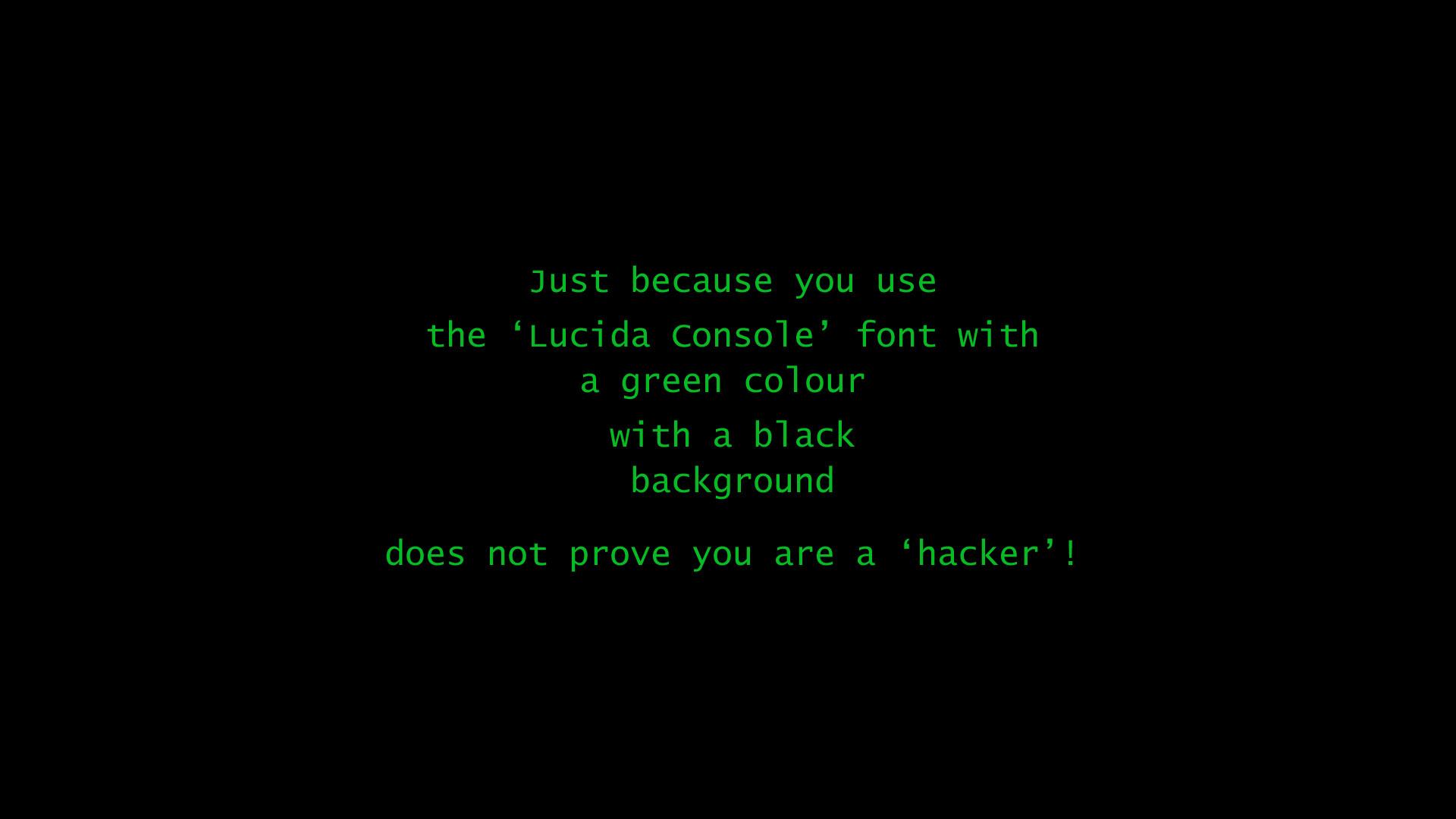 Hacker Black Green computer wallpaper