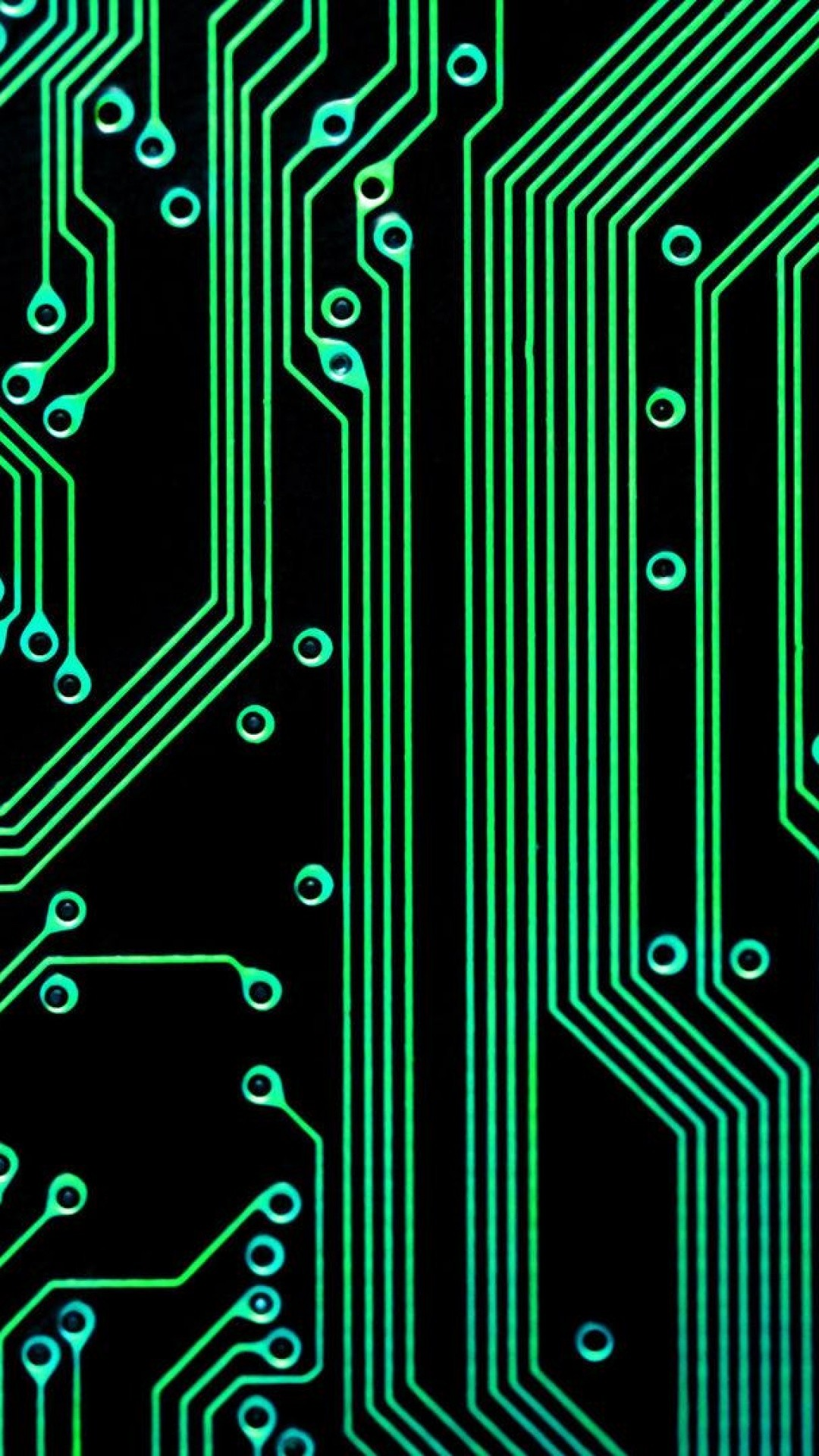 Electronic Circuit Green Black Android Wallpaper …