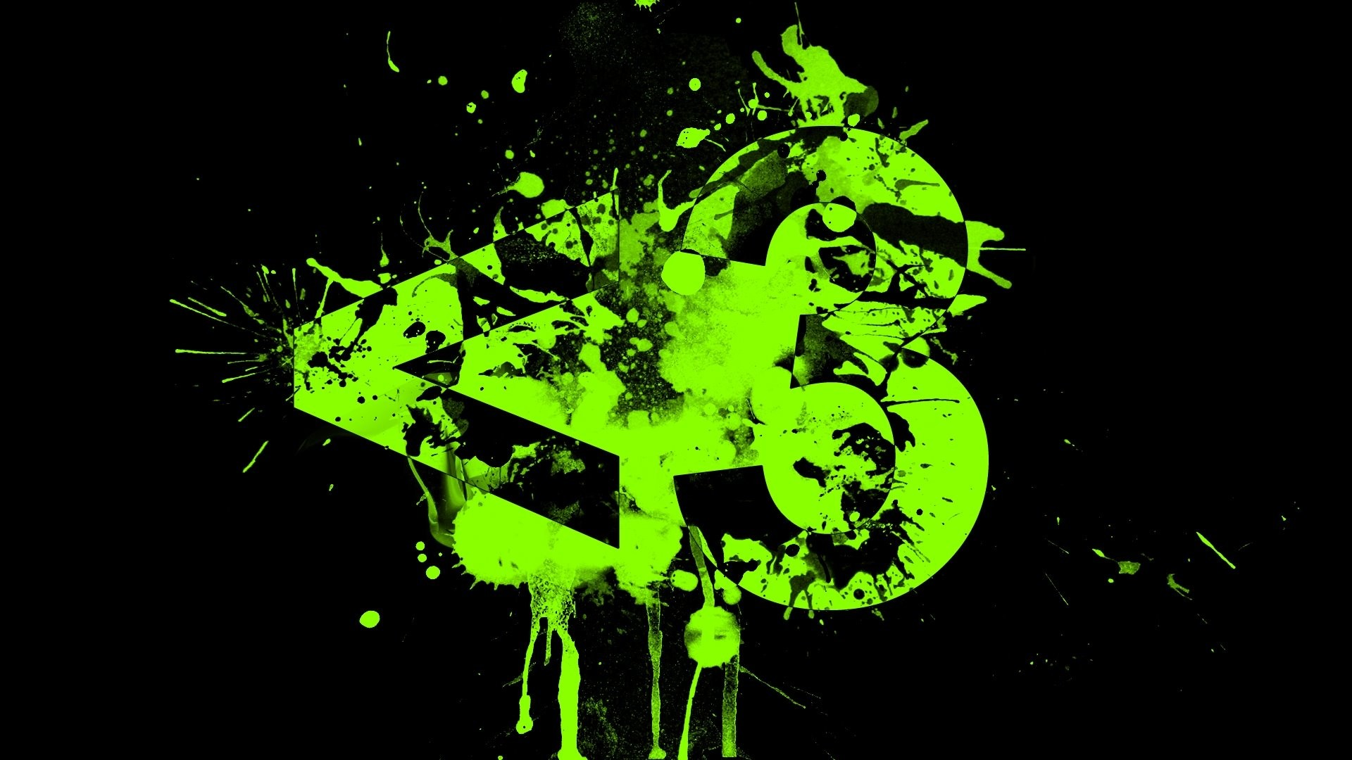 1920 x 1080 px wallpapers free lime green and black by Chisholm Allford  for: TWD