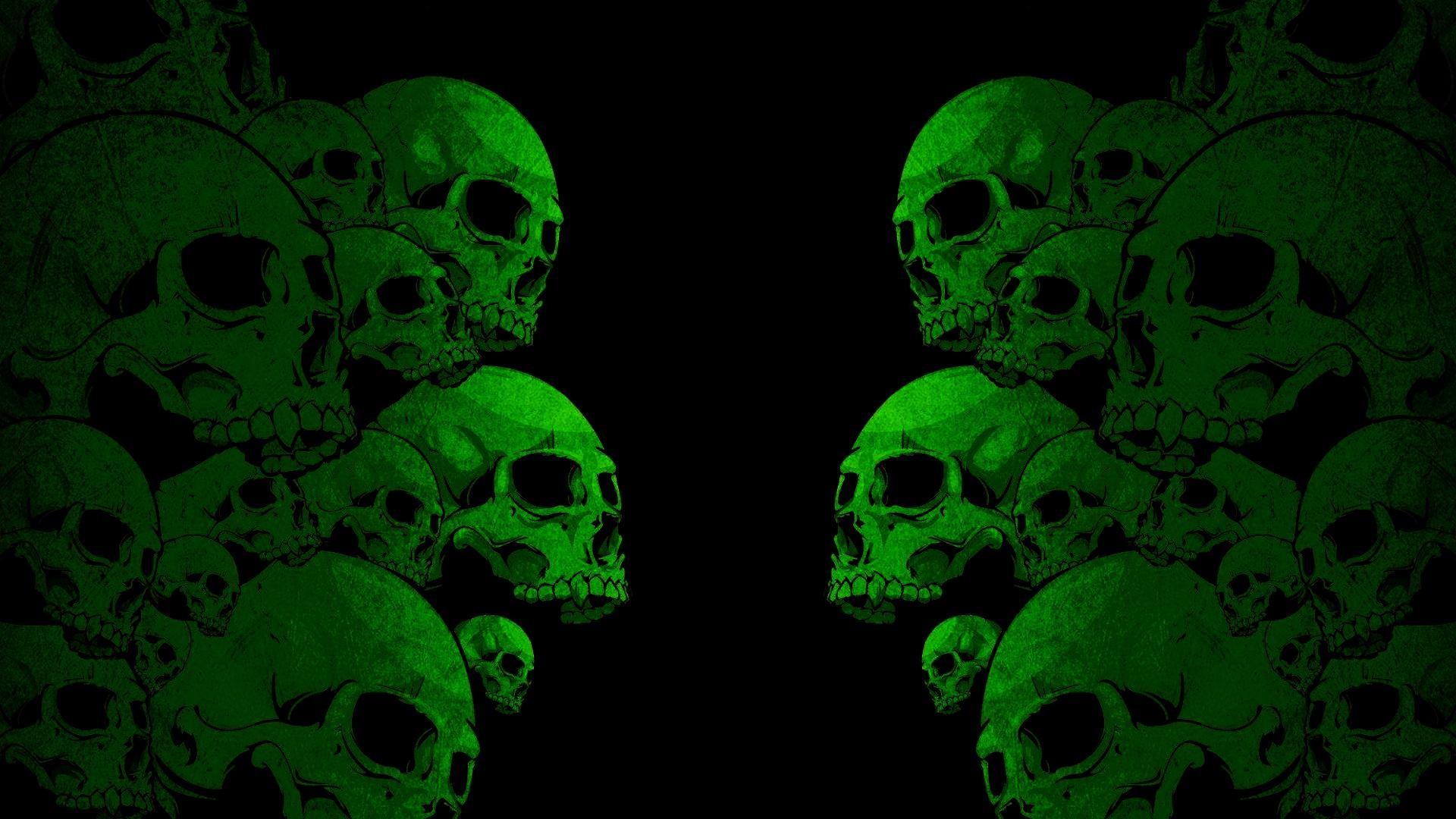 Images For > Green Skull Wallpaper Hd
