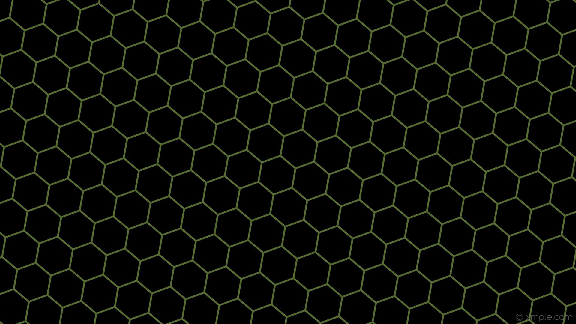 wallpaper green black honeycomb hexagon beehive dark olive green #000000  #556b2f diagonal 50°