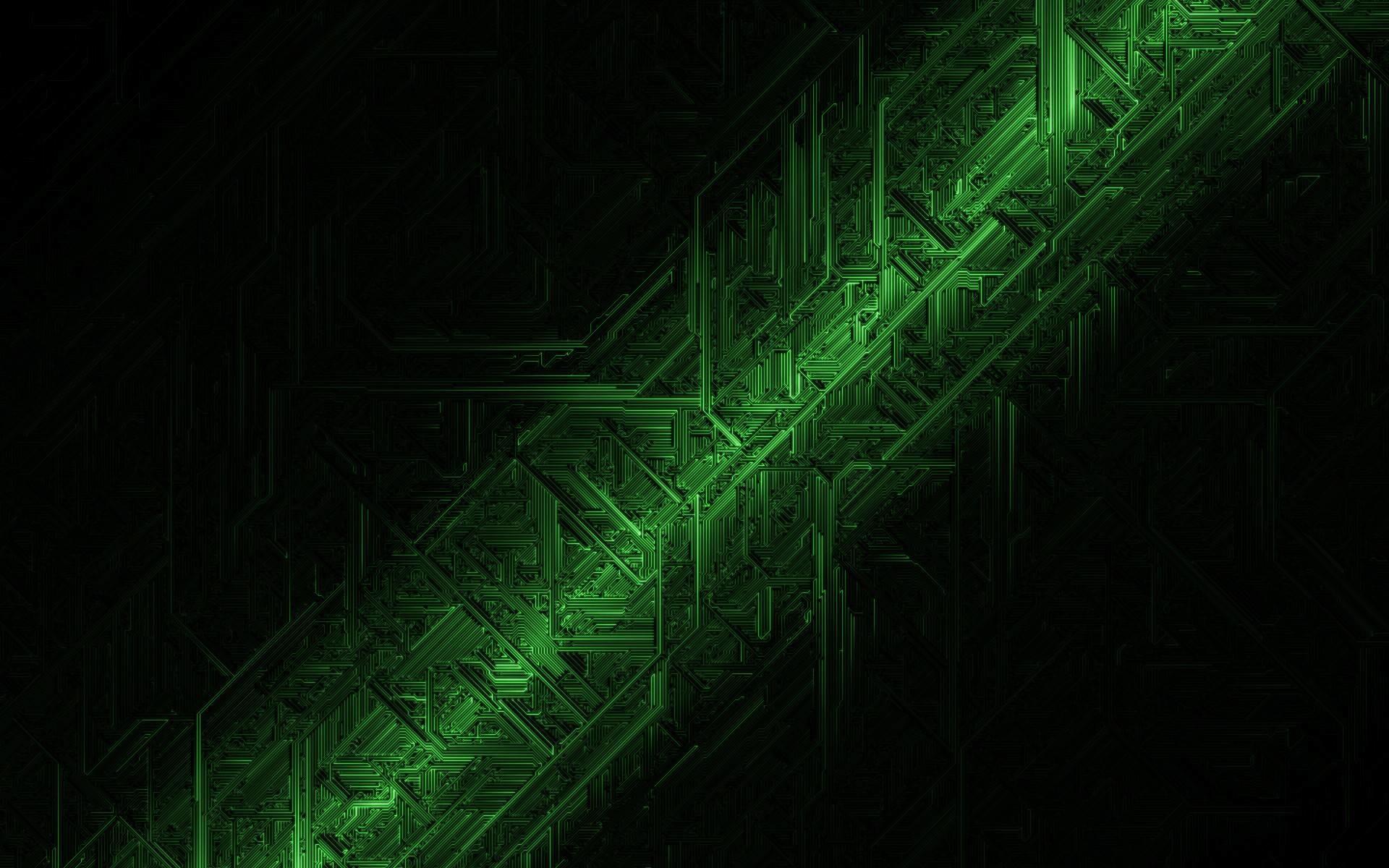 Black Green Abstract HD Wallpaper 1920×1080