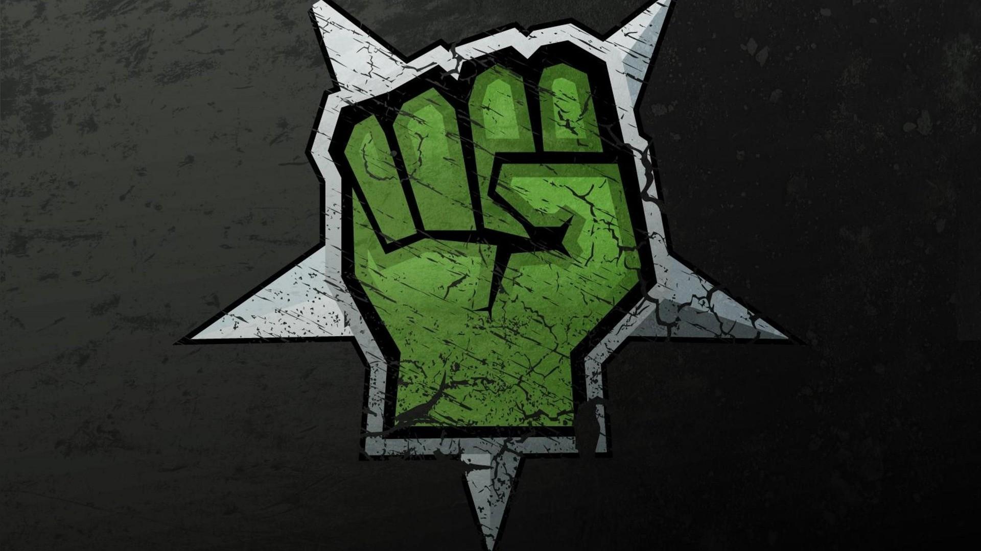 Fist, 3d art, black, fist, green