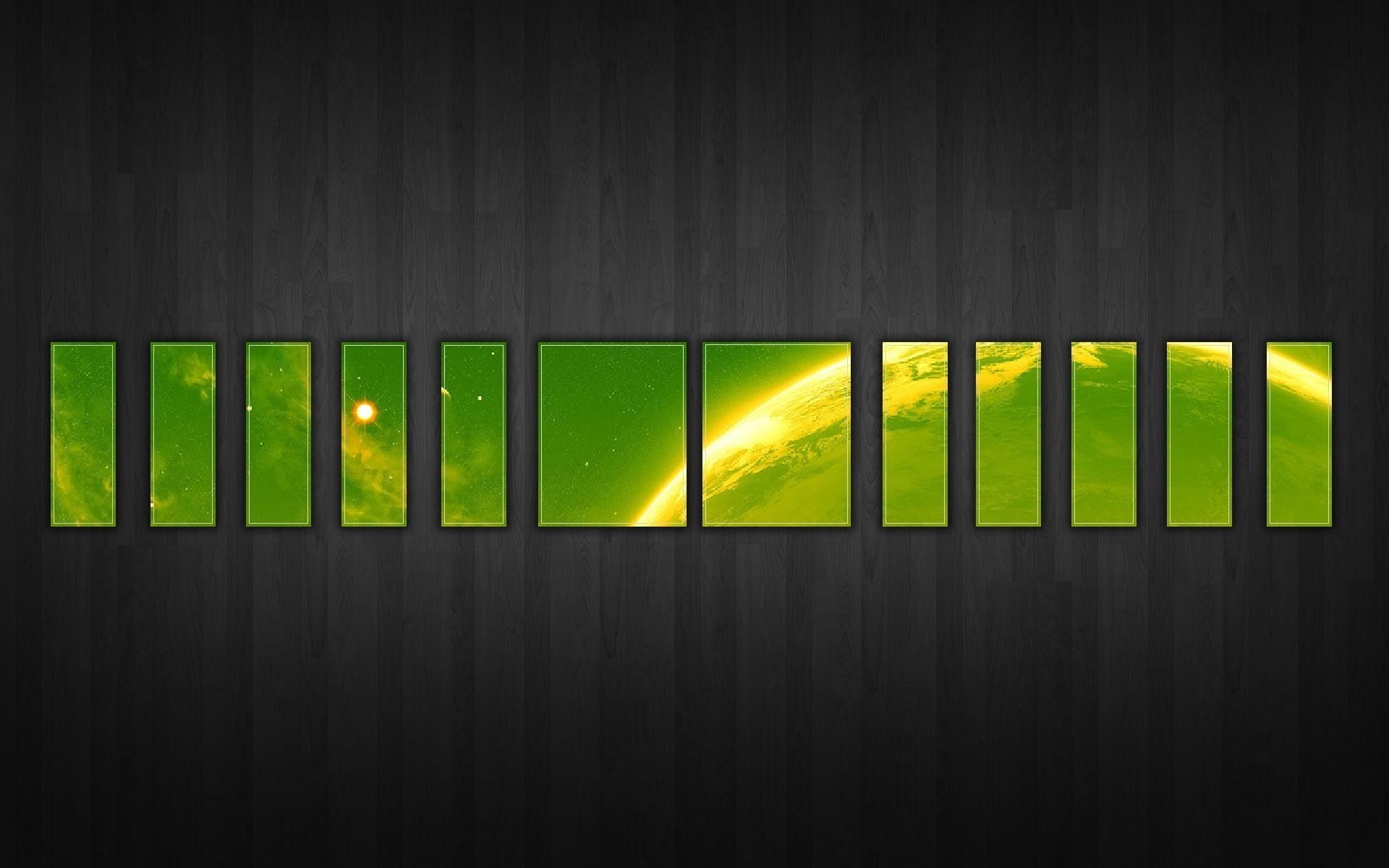 Wallpaper surface, green, black, gray