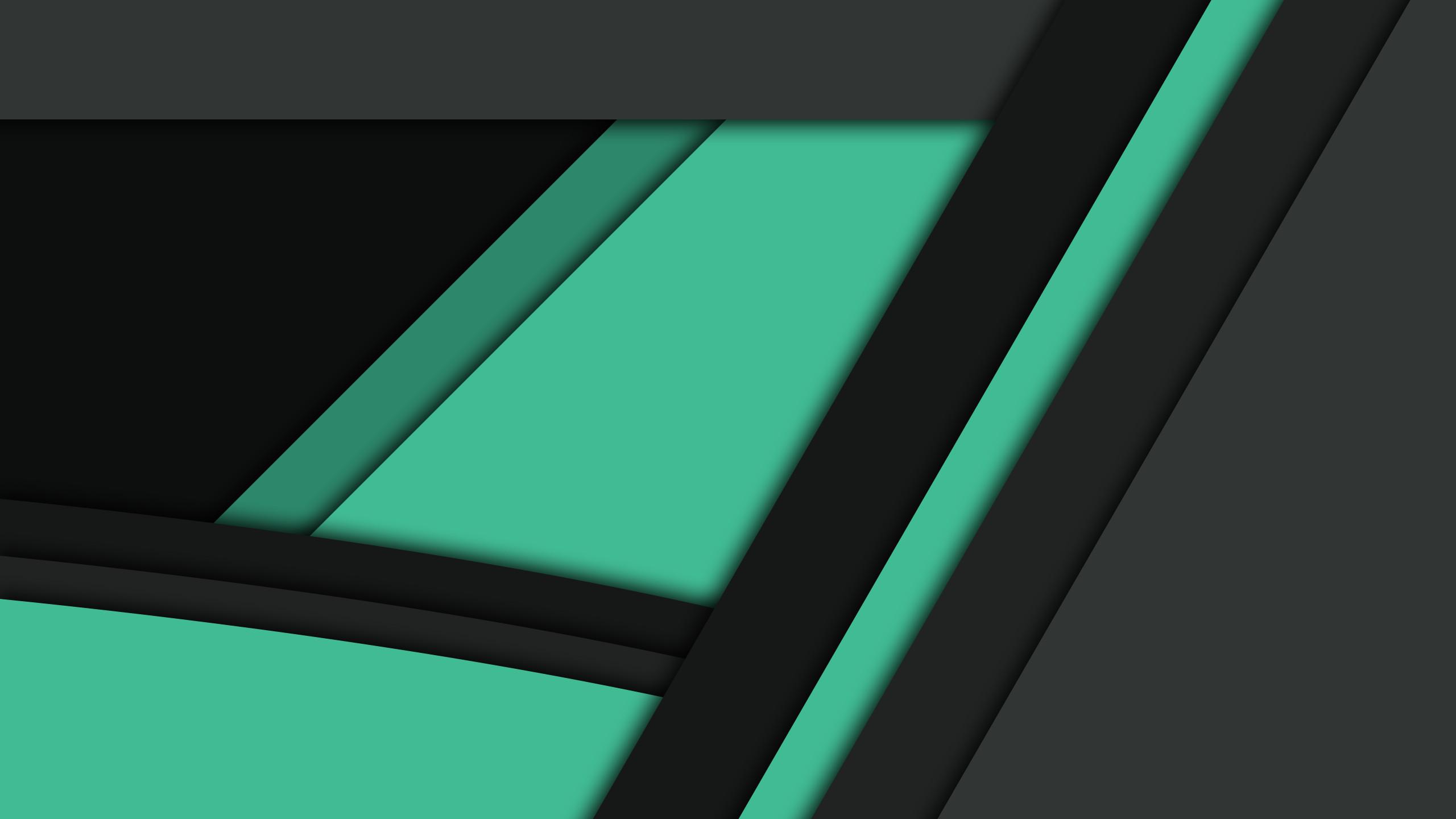 Black Green Material Design