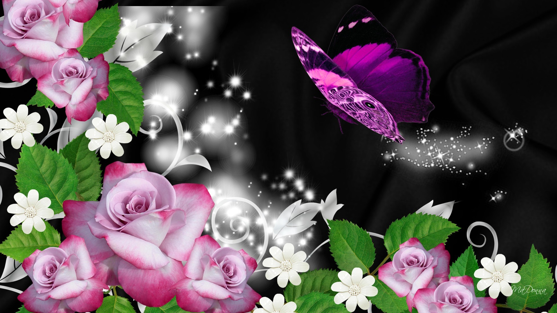 Gothic Blue Roses | Blue Tree Gothic Sparkle Wallpaper with  Resolution