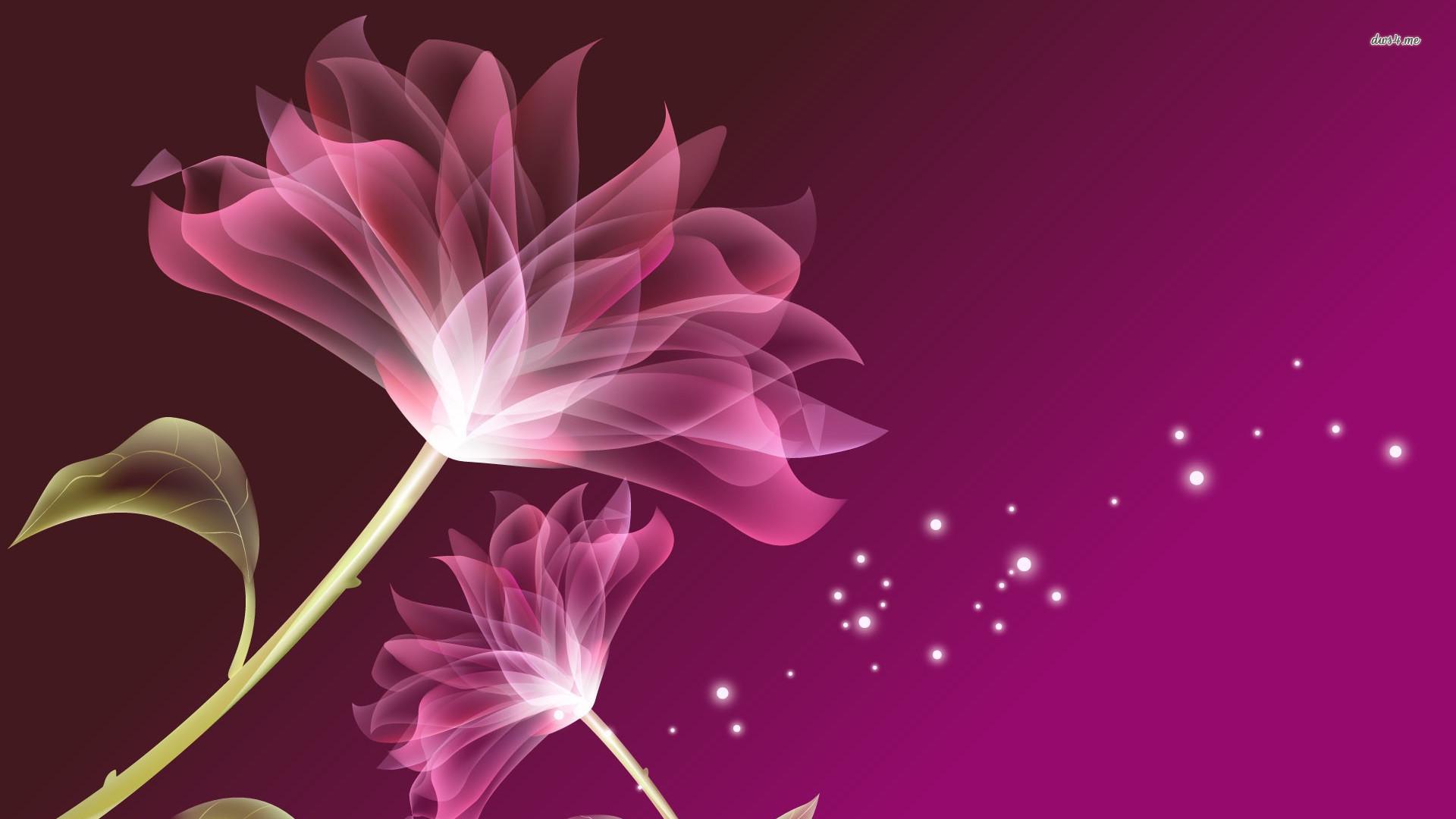 Purple flower Digital Art HD desktop wallpaper, Leaf wallpaper, Sparkle  wallpaper, Floral wallpaper – Digital Art no.