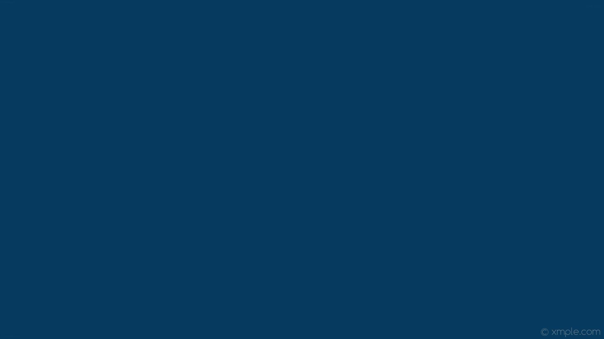 wallpaper single one colour solid color azure plain dark azure #063b5f