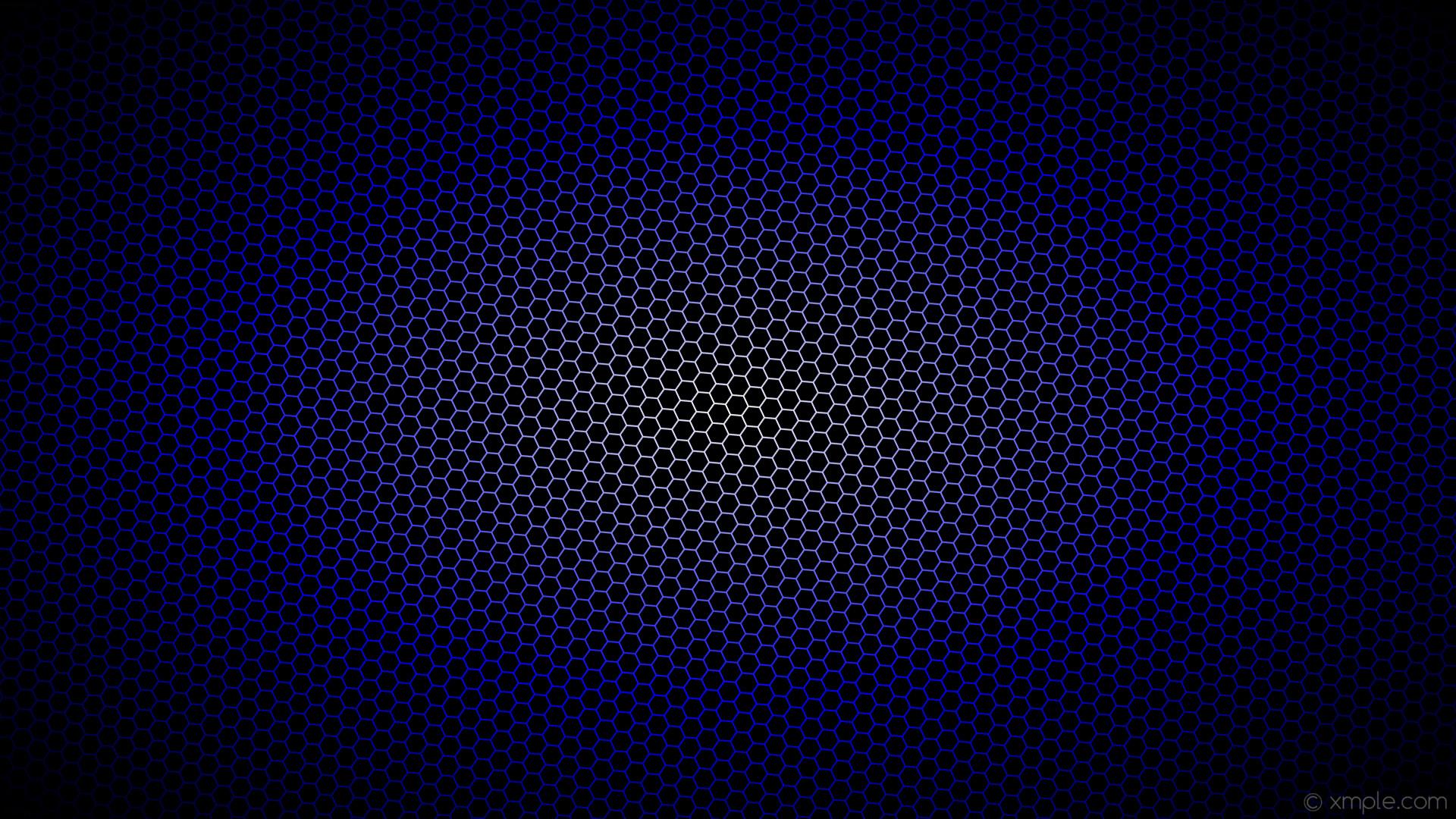 wallpaper blue hexagon glow white gradient black #000000 #ffffff #0000ff  diagonal 25°
