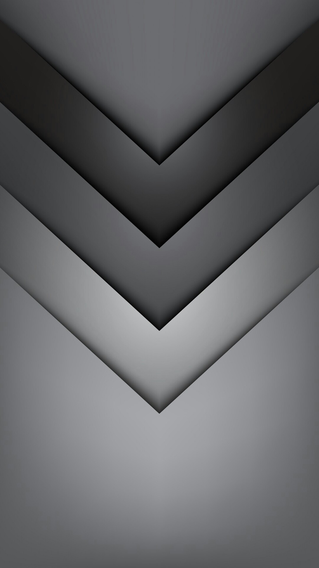 Gradient Grey Chevron Wallpaper