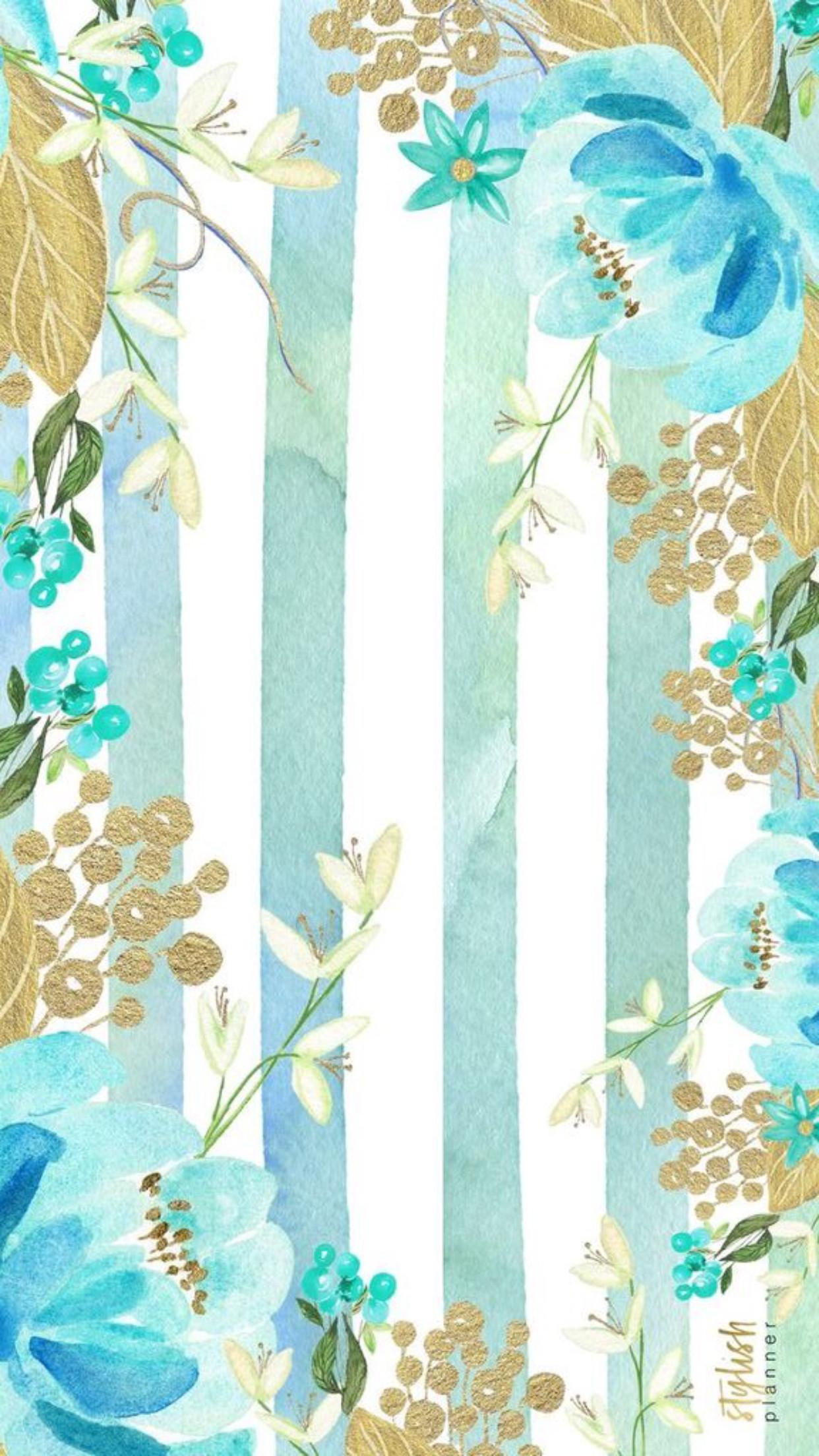 pretty background!!! Wallpaper Iphone VintagePhone WallpapersIphone  BackroundsFlower WallpaperBlue BackgroundsAqua …