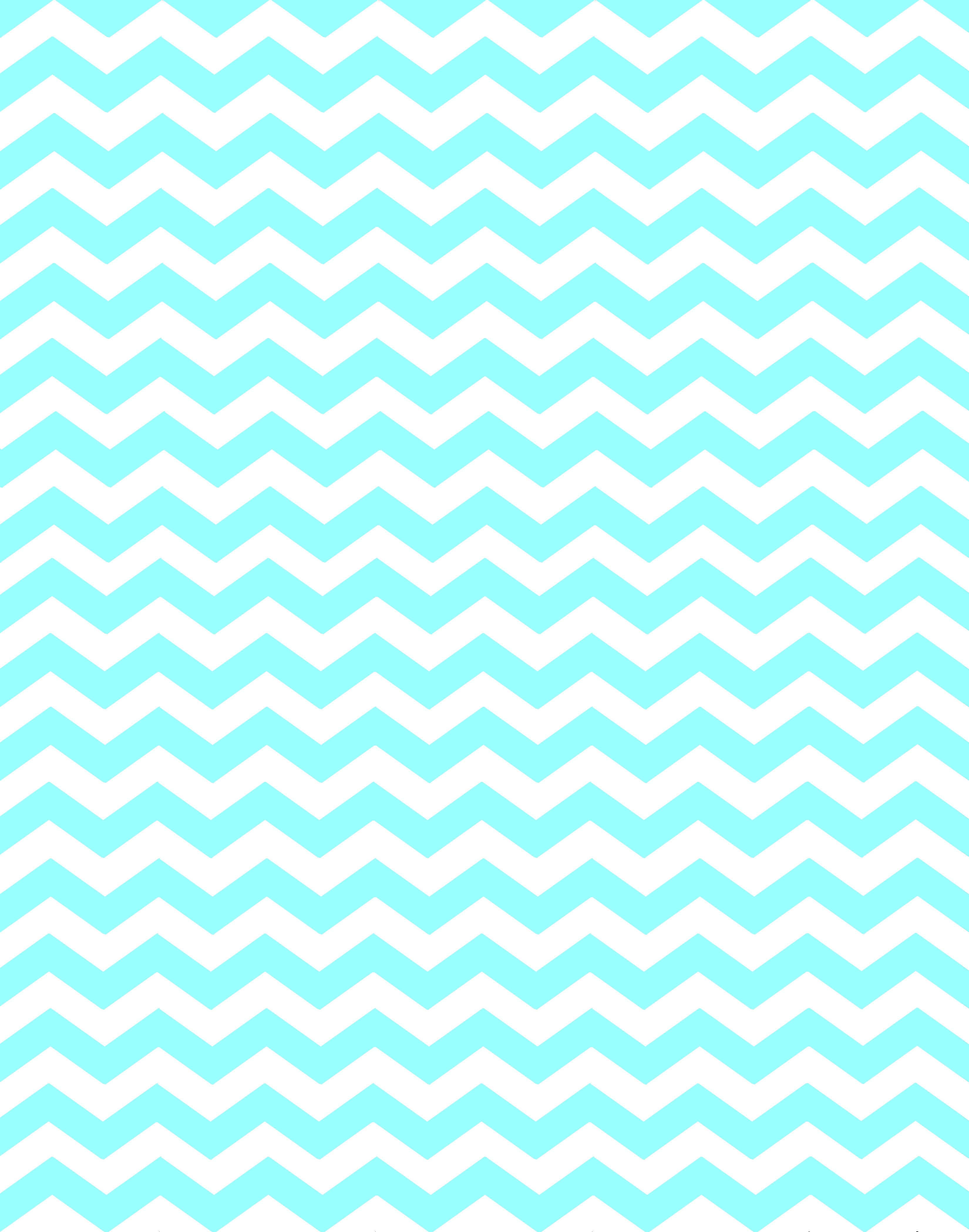 Tiffany Blue And Grey Chevron Wallpaper