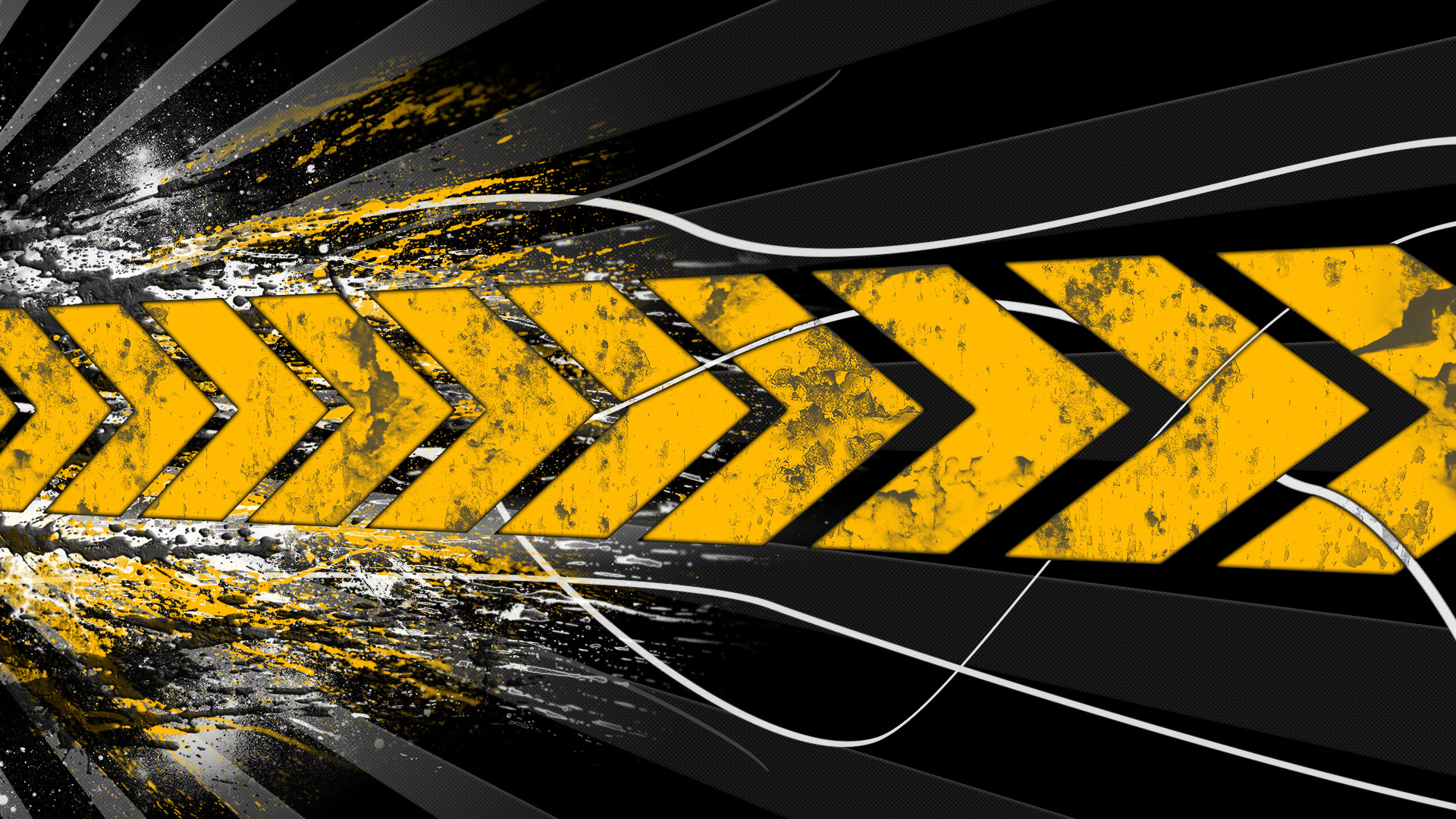 Yellow Abstract Hd