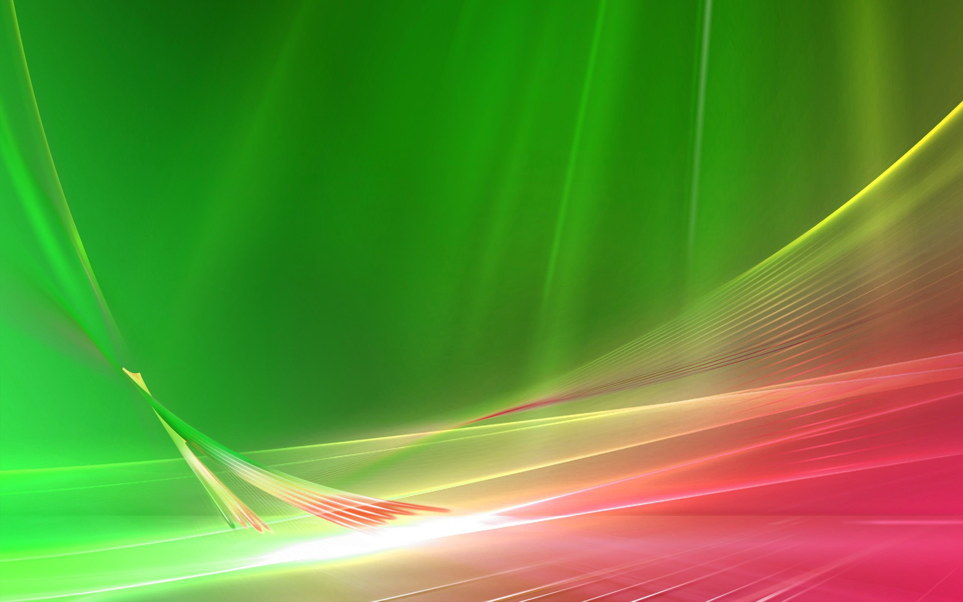 Download Green and pink curves Wallpaper