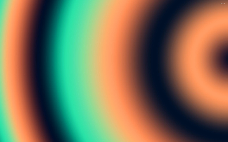 Orange and green circles wallpaper