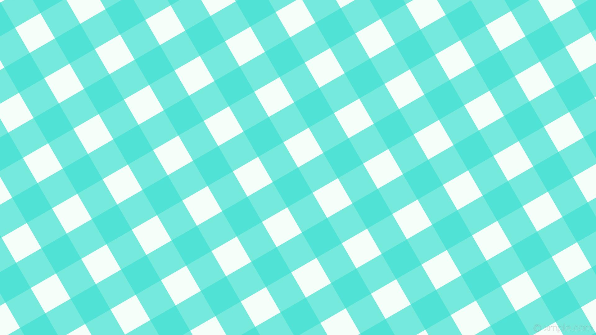 wallpaper checker gingham striped white blue mint cream turquoise #f5fffa  #40e0d0 300° 94px