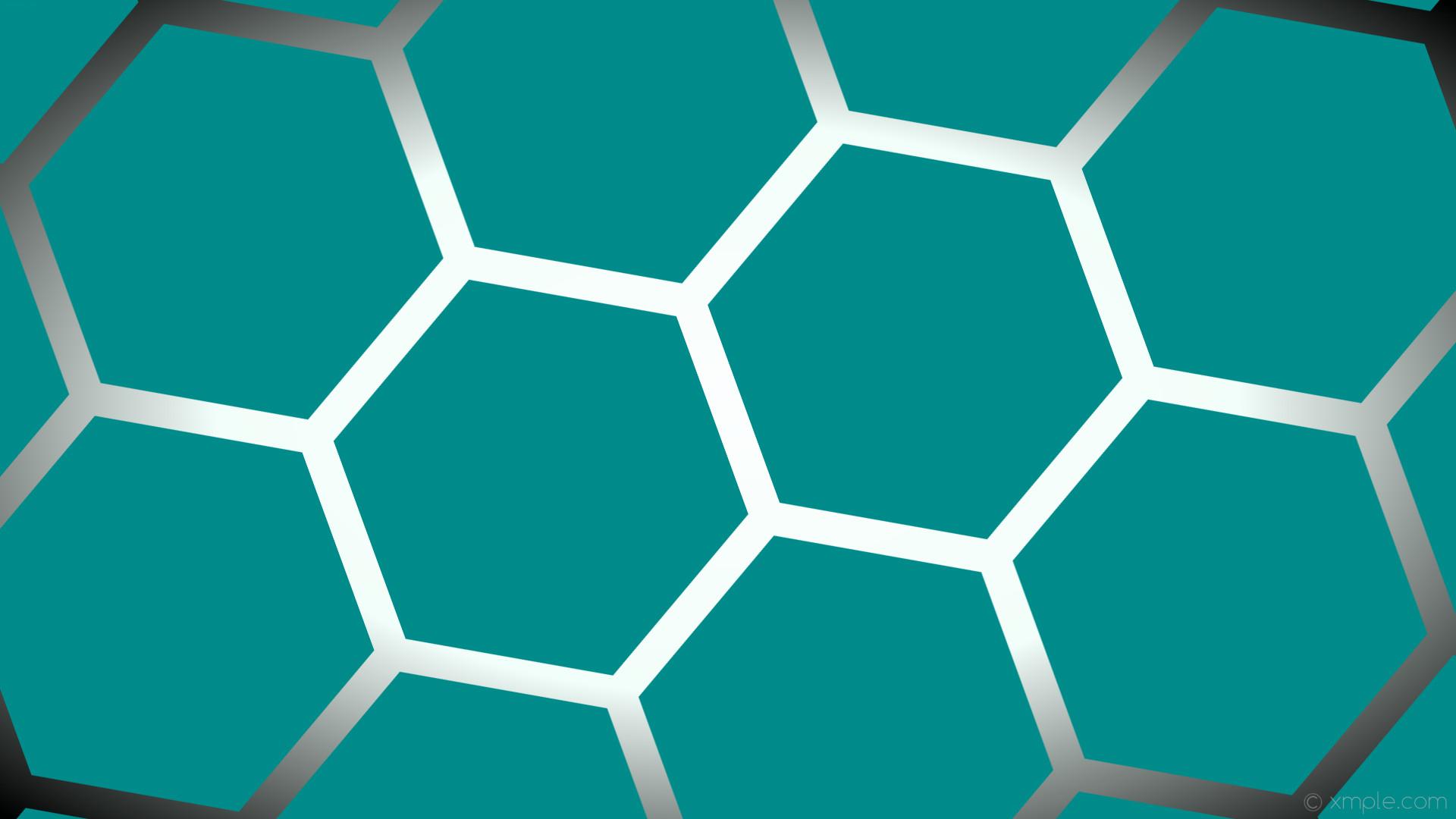 wallpaper glow hexagon white green gradient black dark cyan mint cream  #008b8b #ffffff #