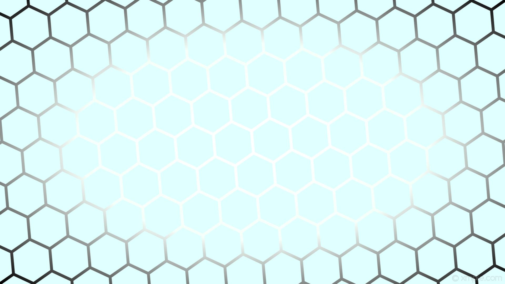 wallpaper hexagon glow black blue white gradient light cyan mint cream  #e0ffff #ffffff #