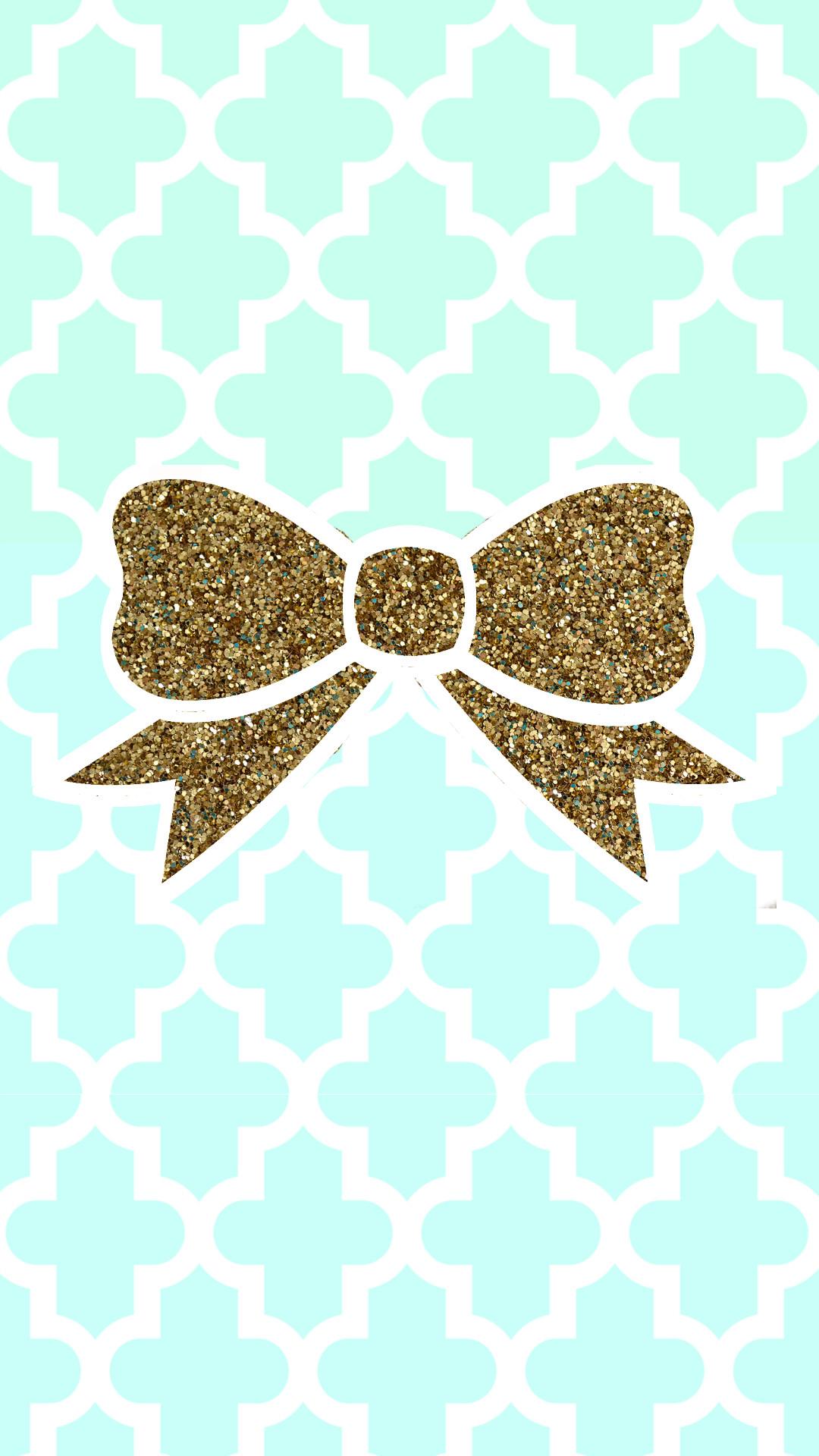 Tiffany blue + gold glitter bow tech wallpaper #FREE