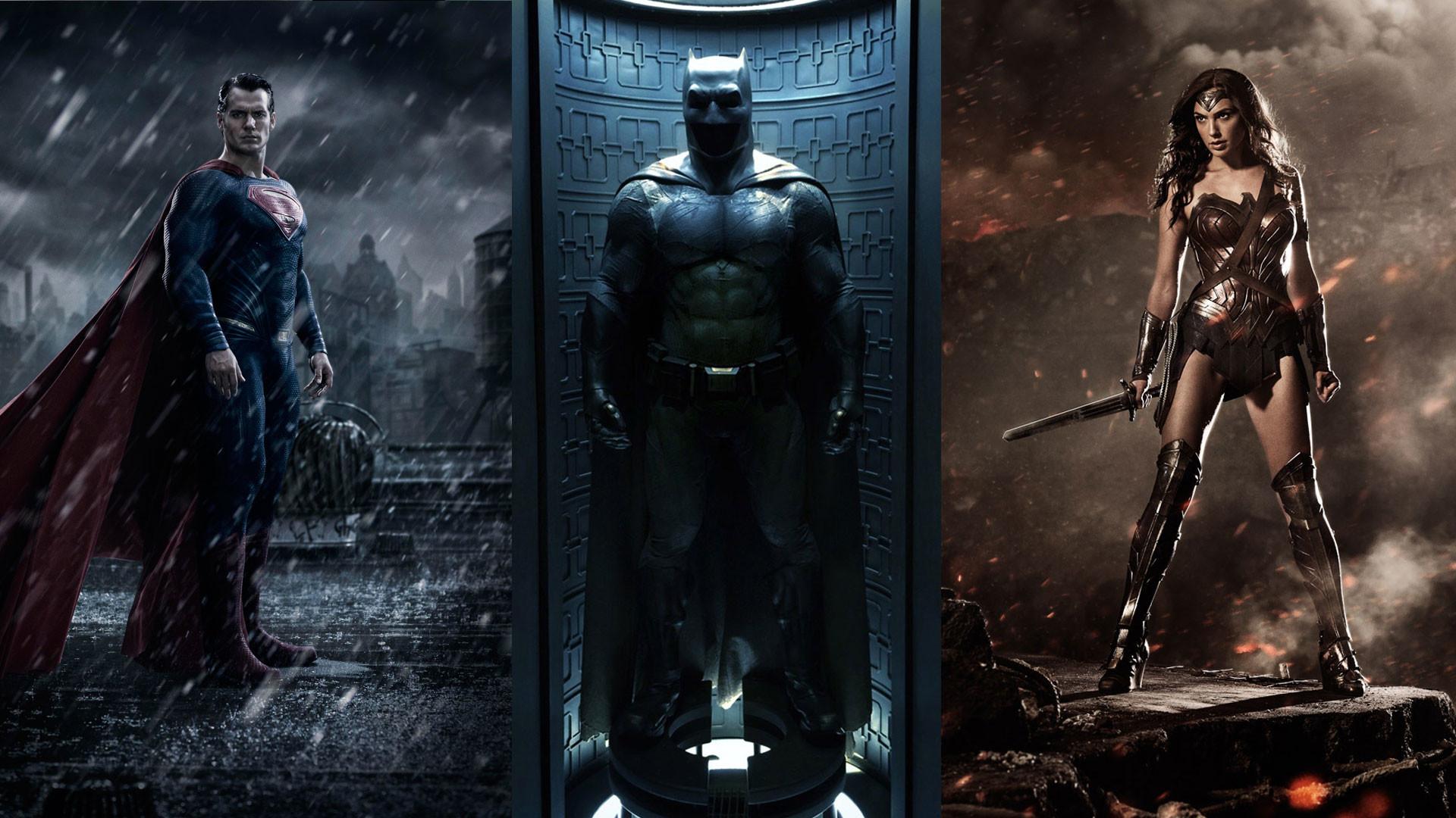 Superman vs Batman & Wonder Woman Wallpaper HD