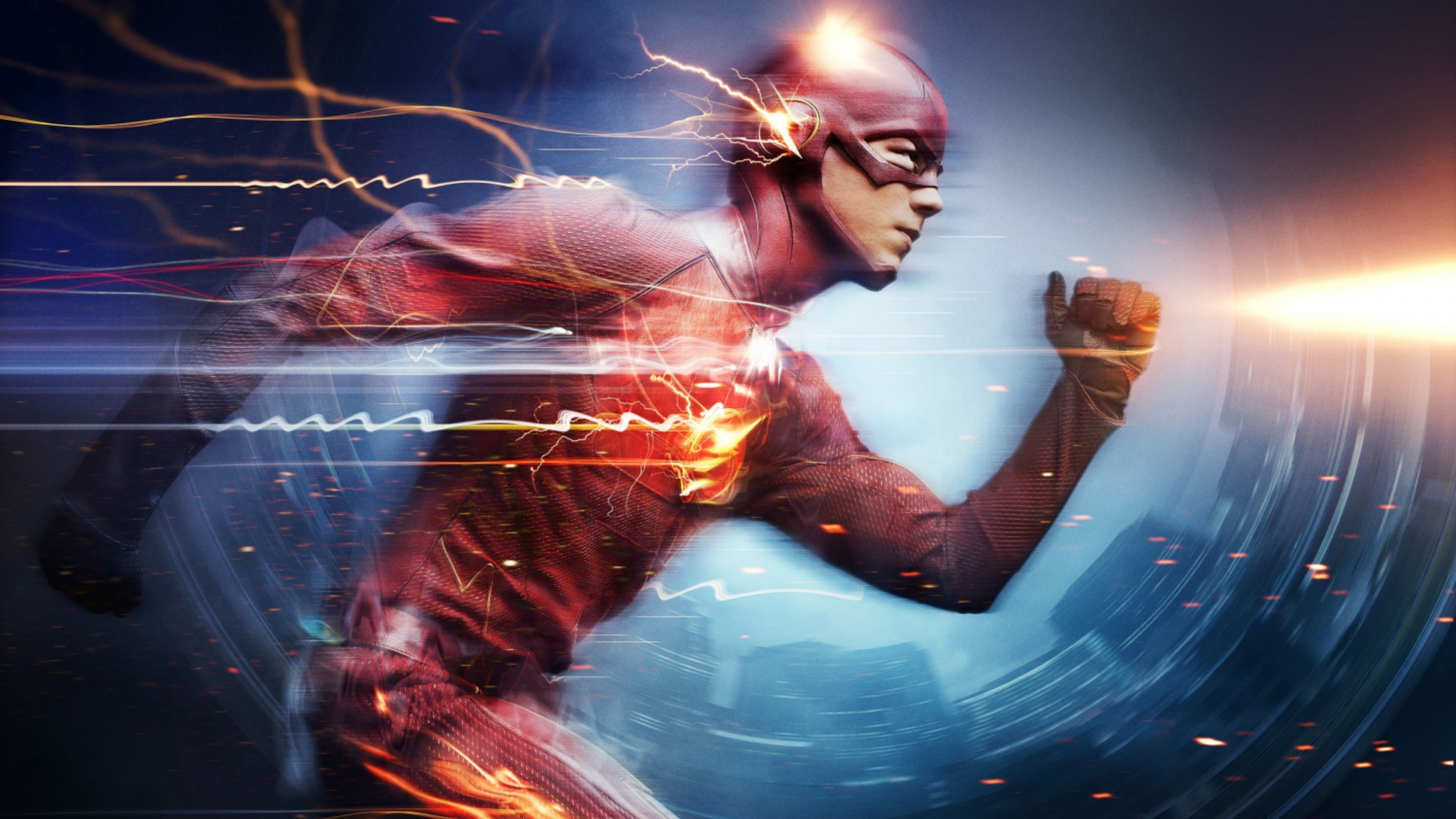 Preview wallpaper the flash, grant gustin, superhero 3840×2160