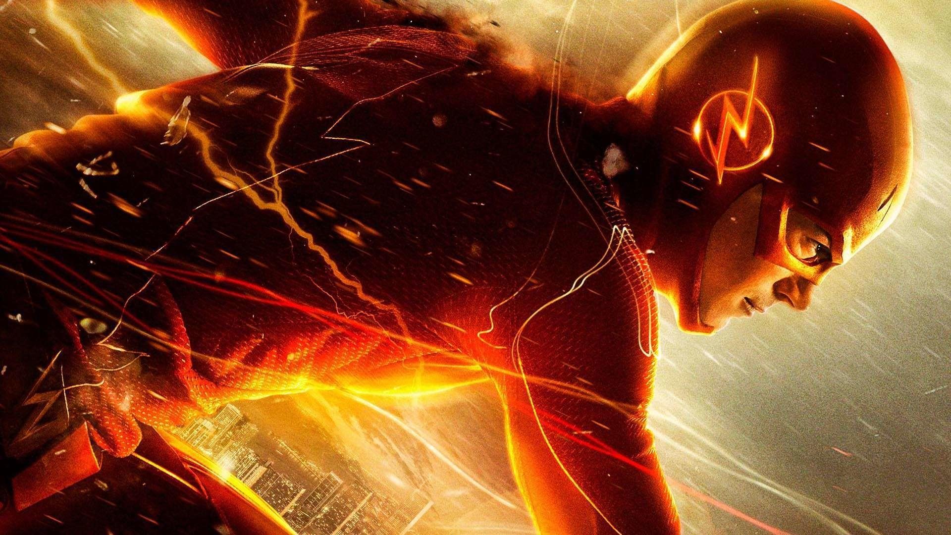 Barry Allen as The Flash Wallpaper free desktop backgrounds