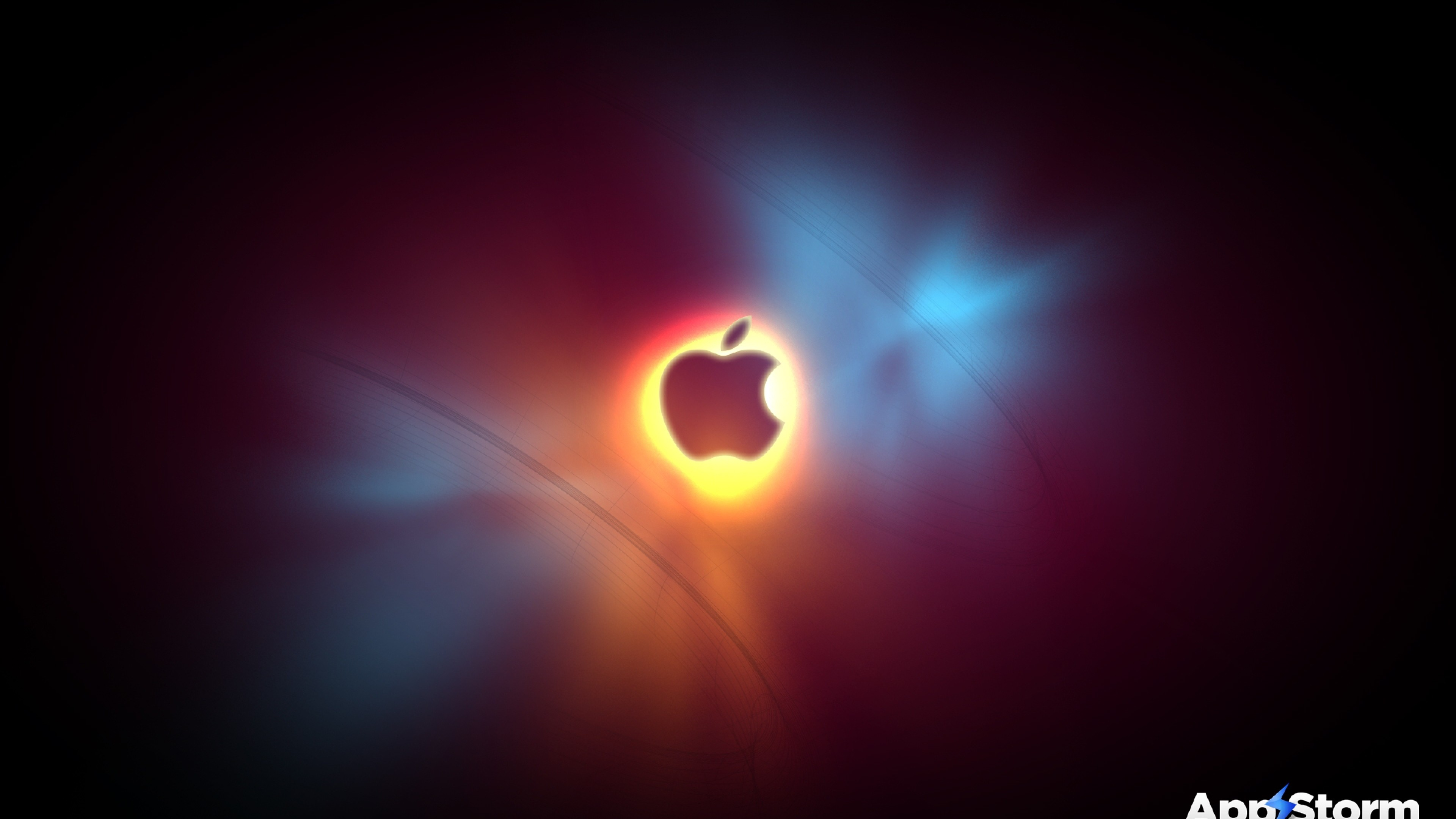Wallpaper app storm, apple, mac, light, smoke, flash