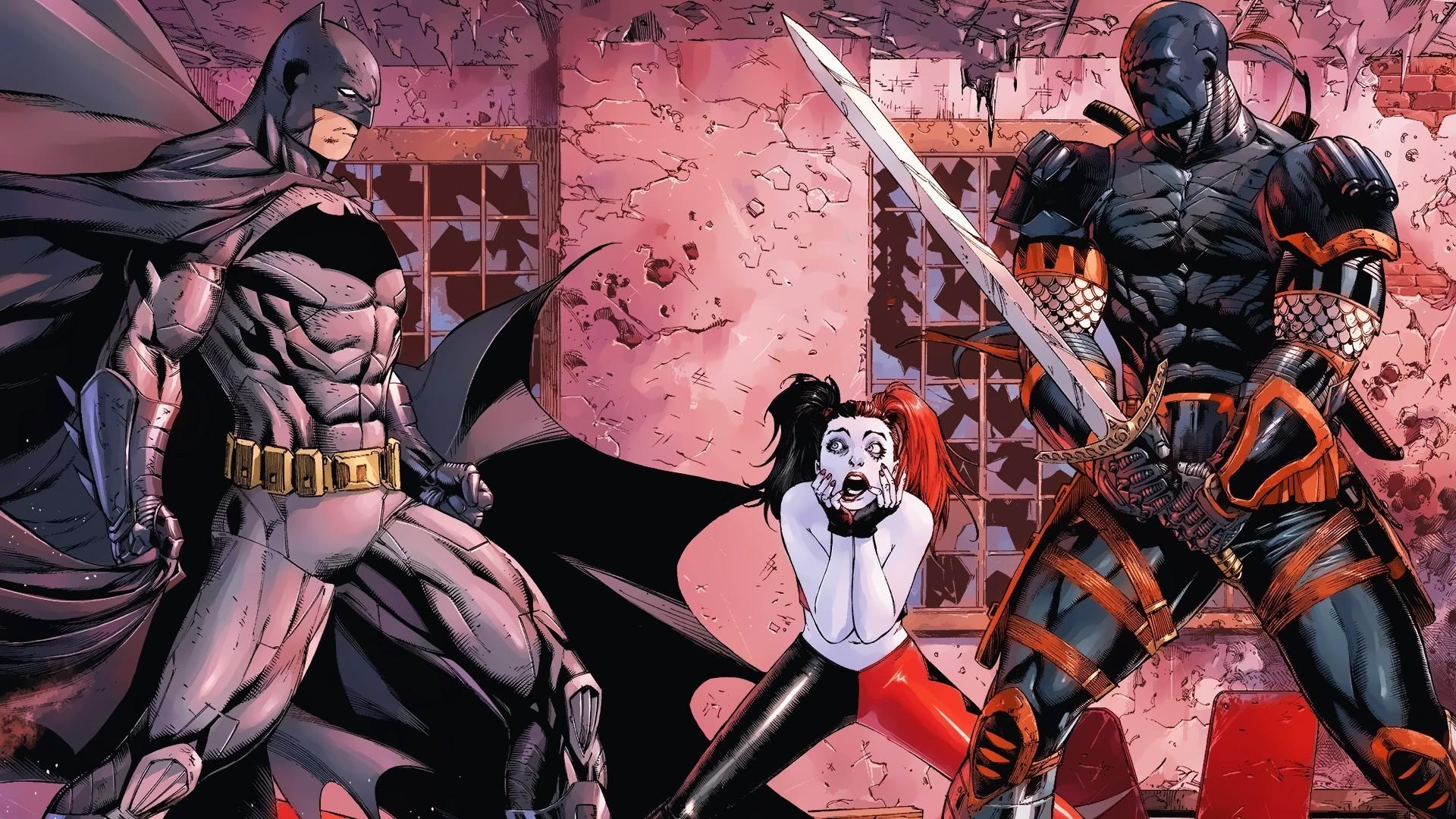 Comics – Batman Deathstroke Harley Quinn DC Comics Wallpaper