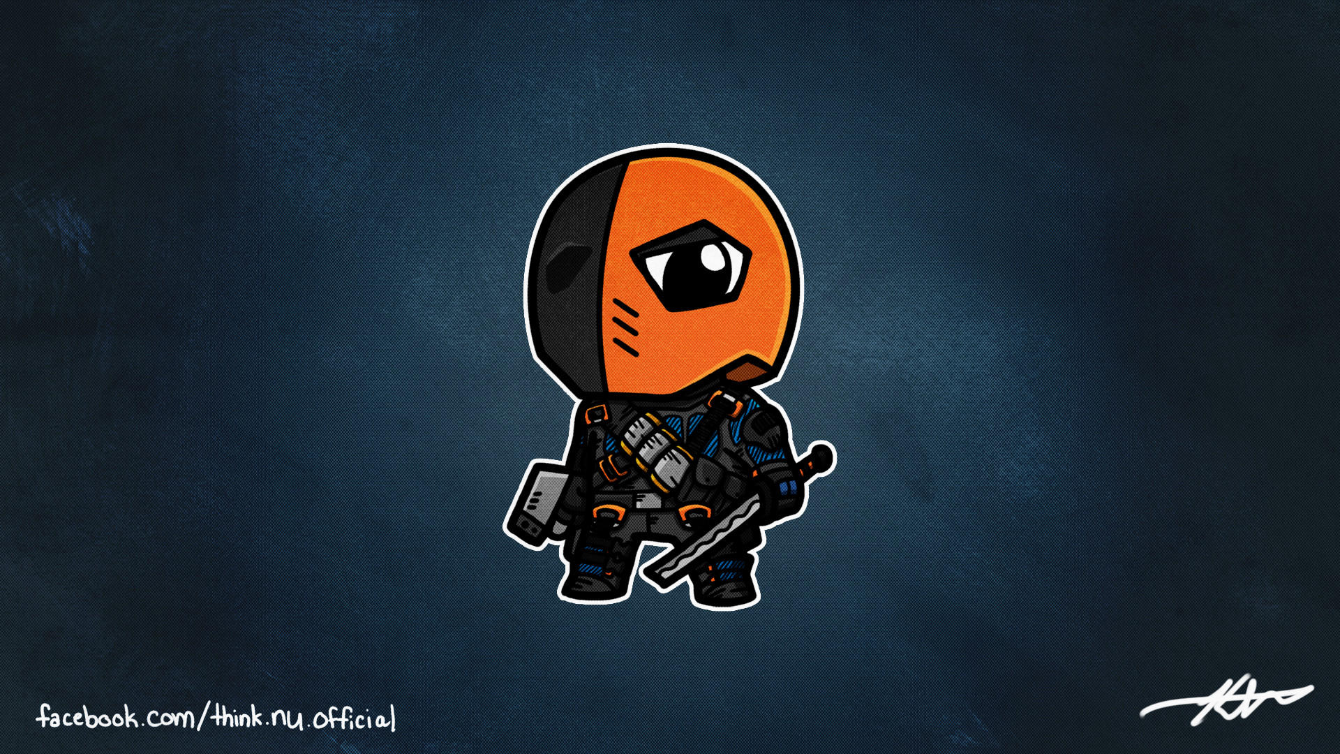 A while back I sketched out Deathstroke. Here's the finished version as  promised.