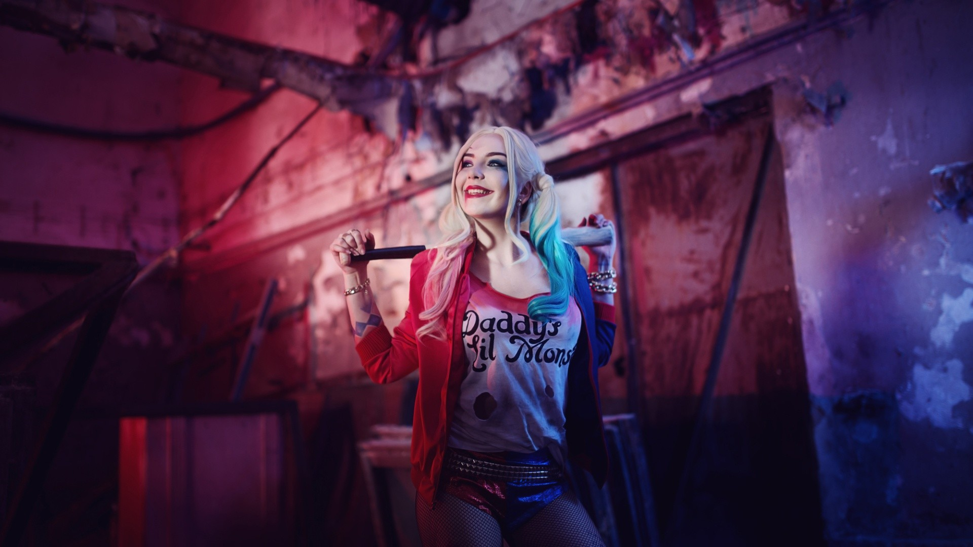 Suicide Squad Harley Quinn Cosplay Costume Wallpaper 12524