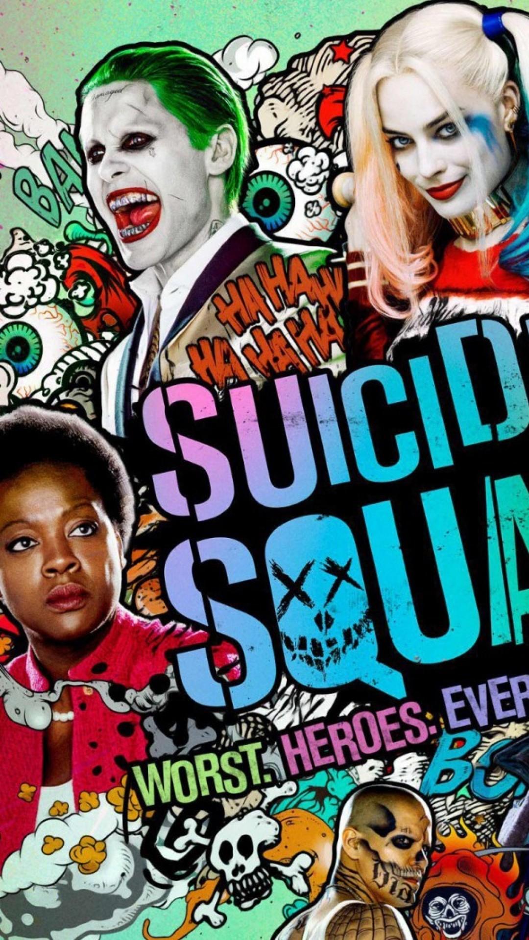Wallpaper suicide squad, harley quinn, deadshot, joker, captain  boomerang, enchantress