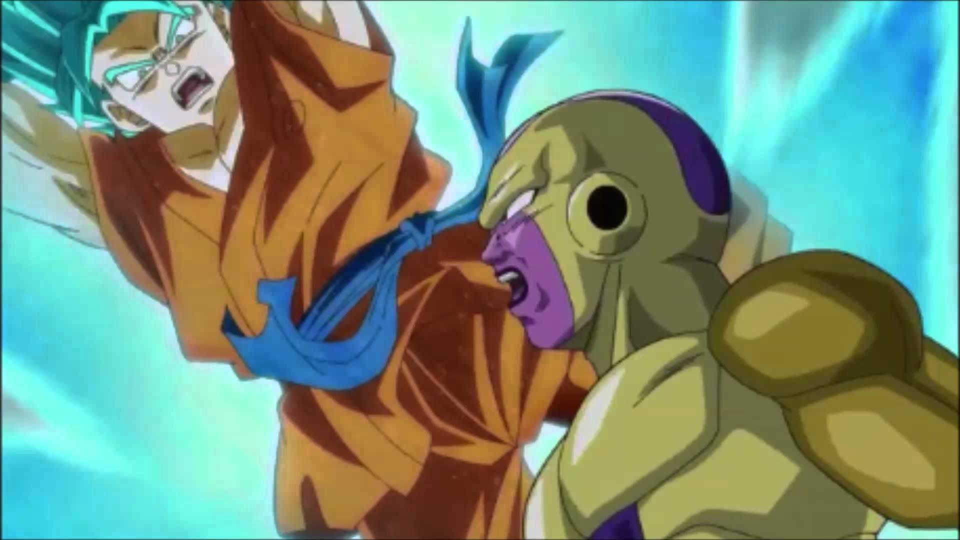 Dragon Ball Z Ressurrection F FOOTAGE – SS God SS Goku vs. Golden Frieza  IMAX 3D HD TV SPOT CLIP!