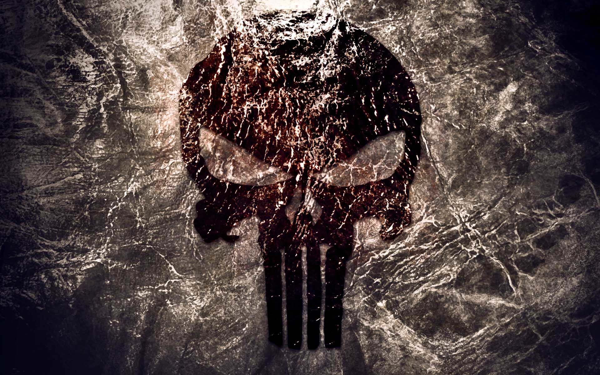 The Punisher Texture Logo Wallpaper Download Wallpaper from .
