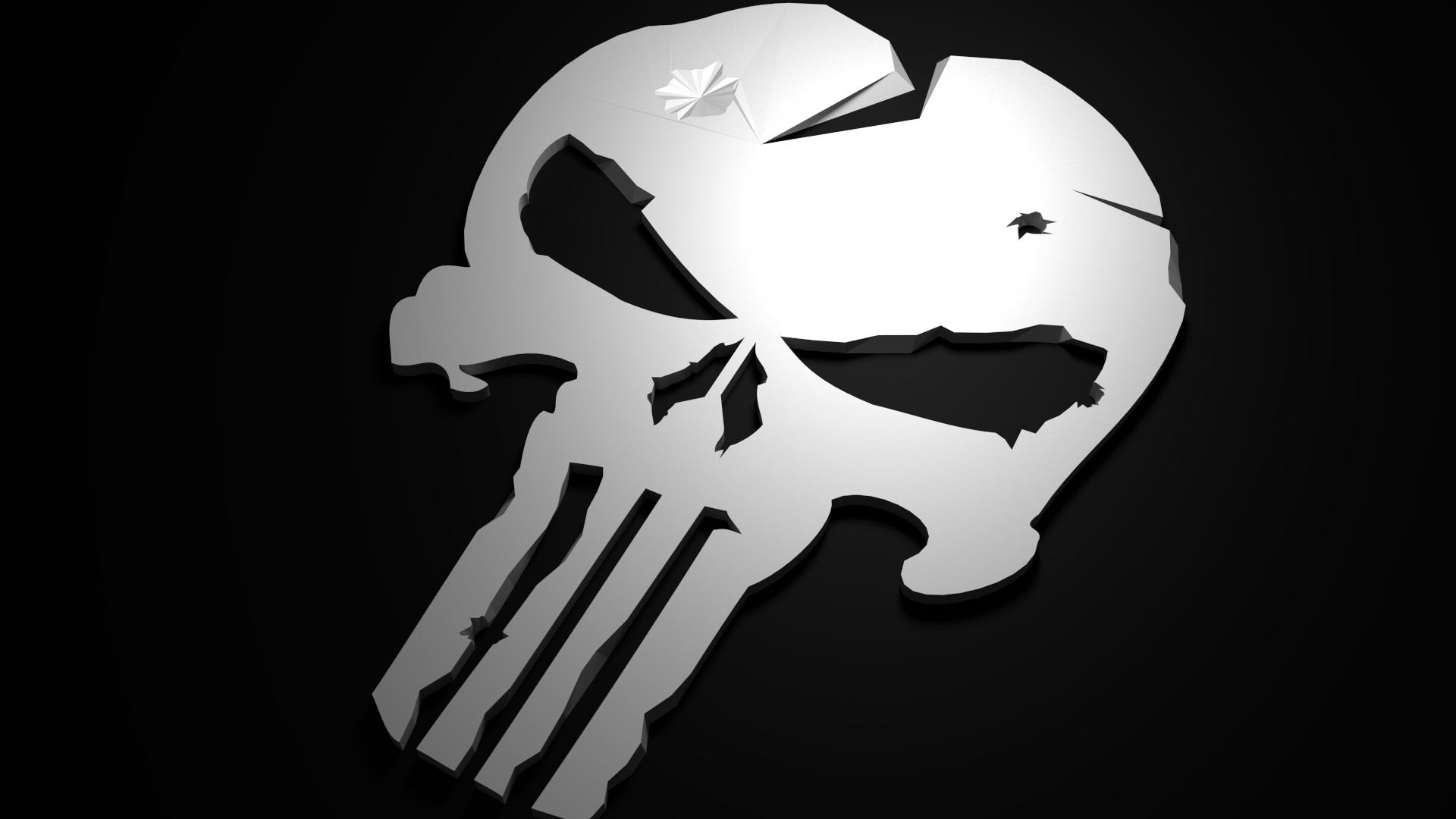 Low Poly Punisher (1920 x 1080) HD Wallpaper From Gallsource.com