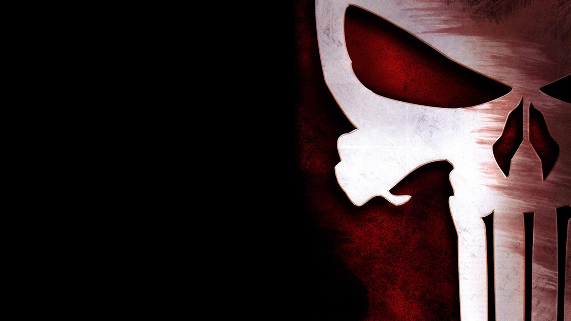 Black Background Logo Marvel Comics Punisher Skull …