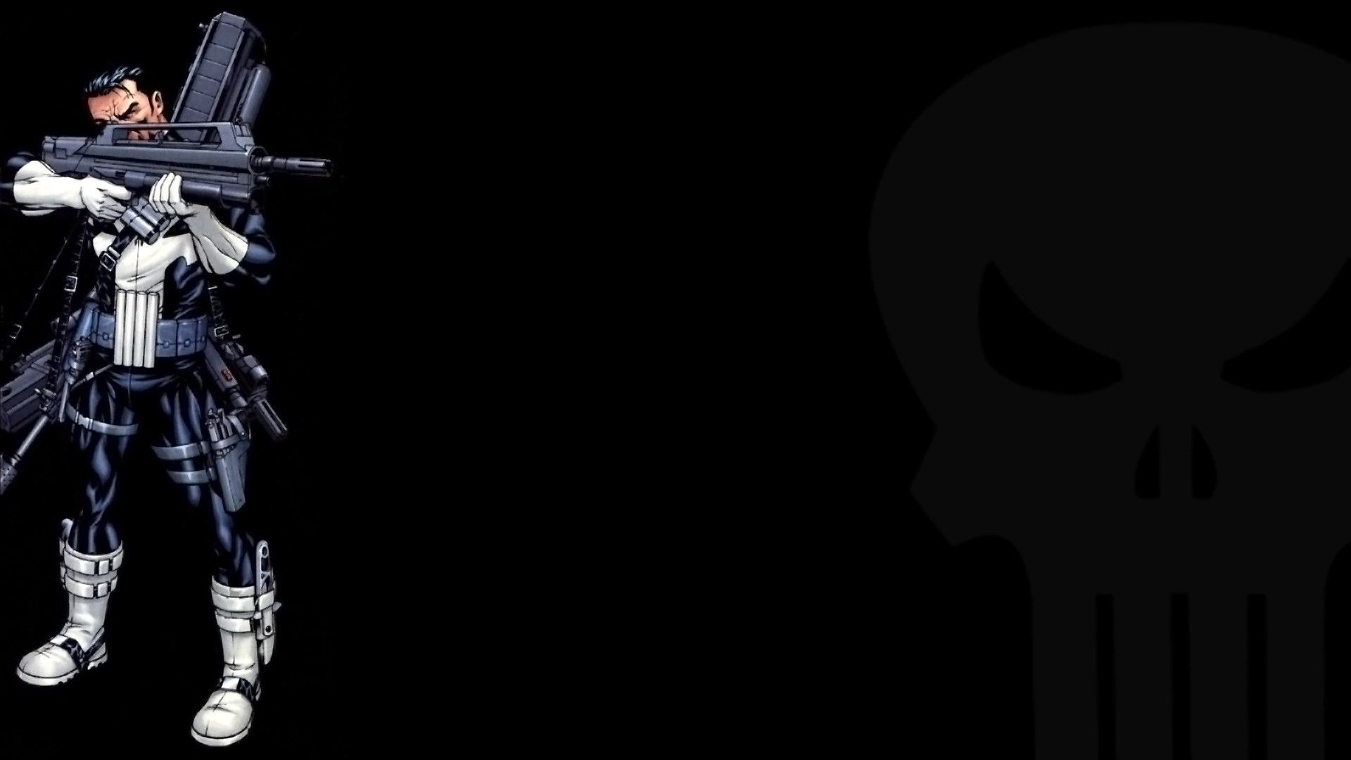 Showing posts & media for Punisher blue wallpaper | www .
