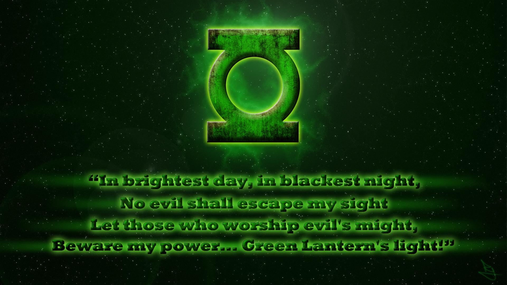 Green lantern oath – photo#1