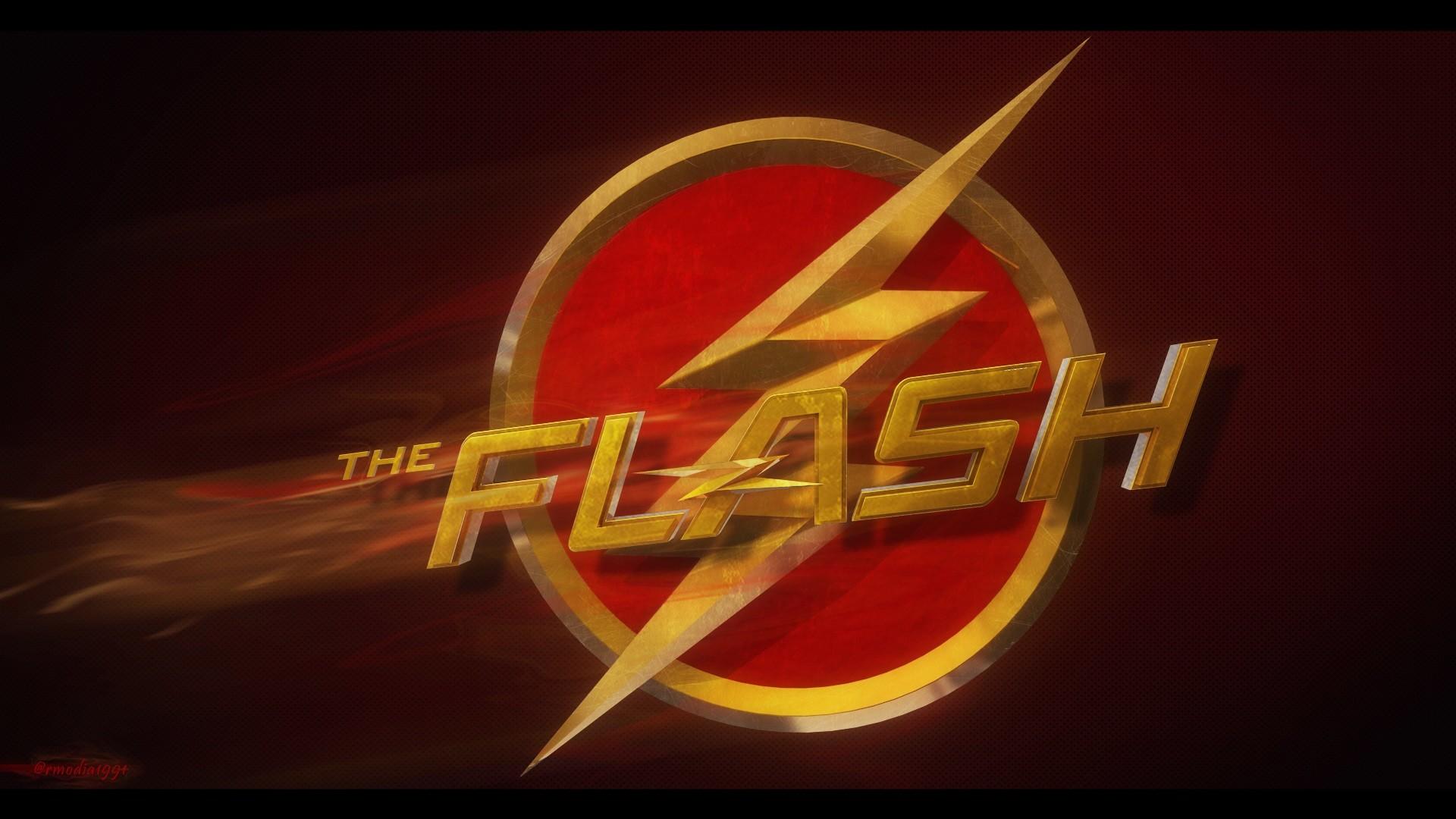 The Flash logo background
