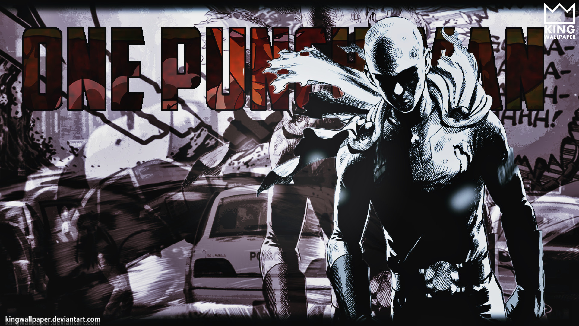… One Punch-Man Wallpaper – by @kingwallpaper by Kingwallpaper