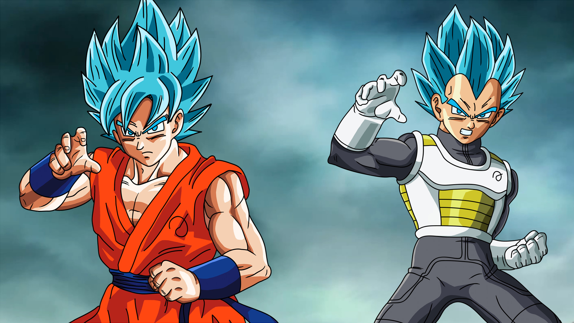 Goku and Vegeta Fukkatsu no F SSJGod SS Wallpaper by EymSmiley on .
