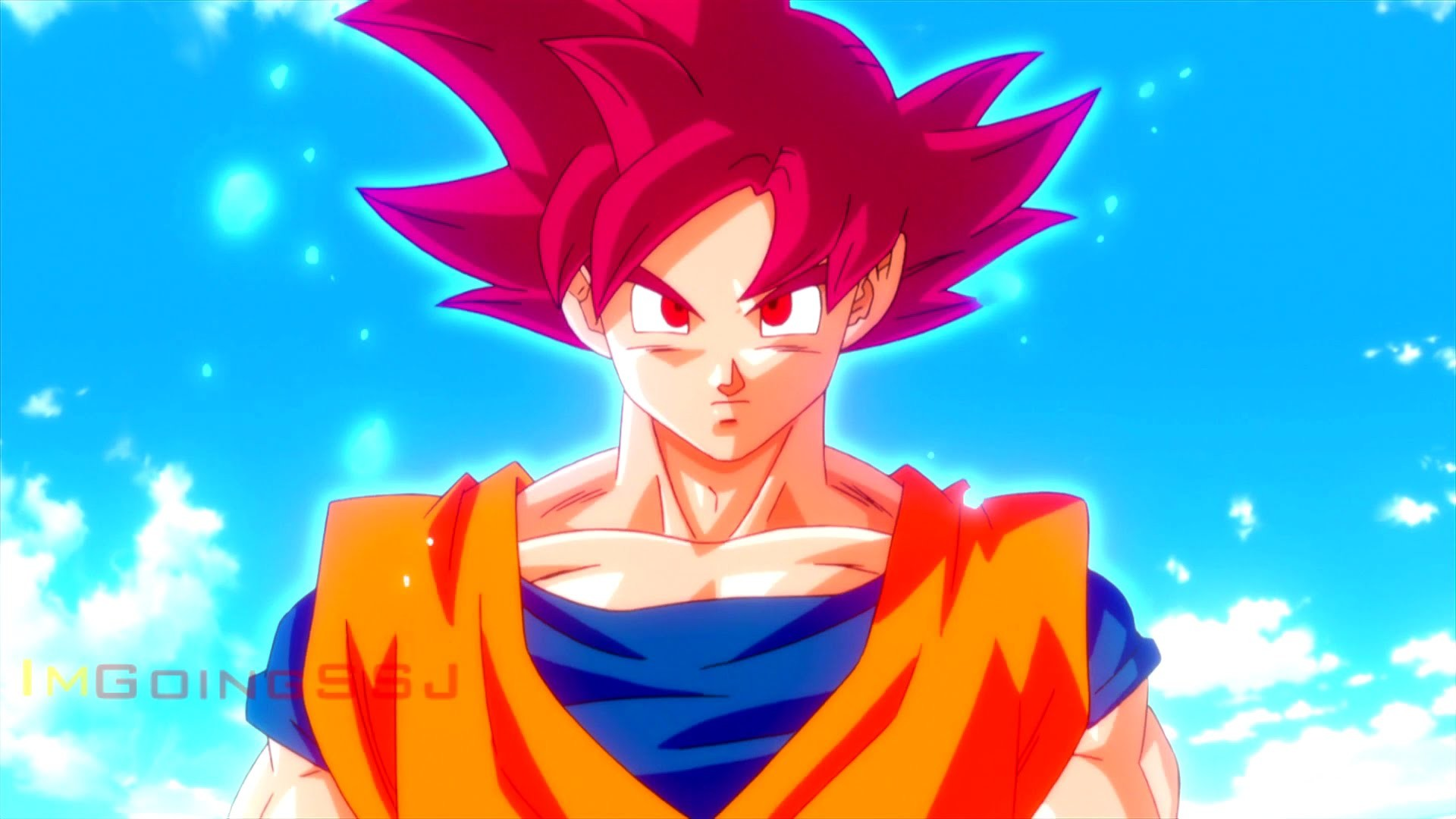 Goku turns Super Saiyan God YouTube