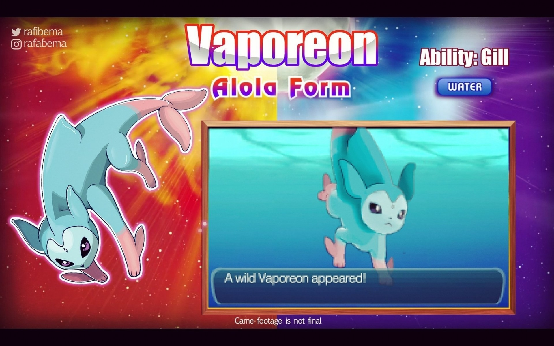 Pokemon Sun And Moon Vaporeon Alola Form Wallpapers HD for Mobile Free  Download