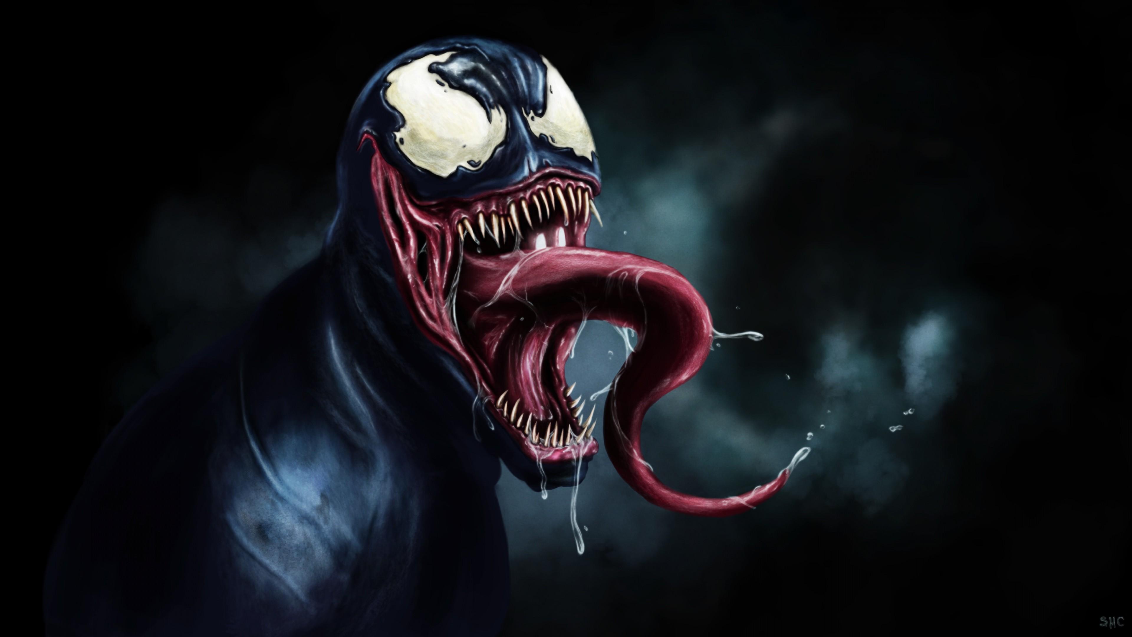 Preview wallpaper venom, eddie brock, marvel 3840×2160
